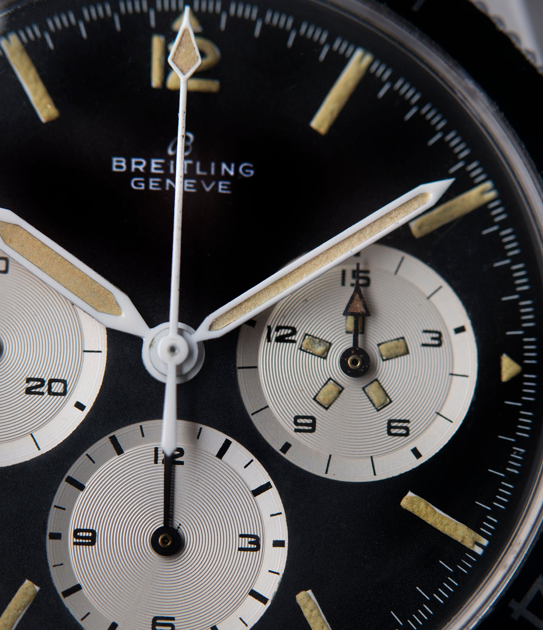 rare Breitling 765 AVI pilot steel vintage chronograph watch online at A Collected Man London UK specialist of rare vintage watches