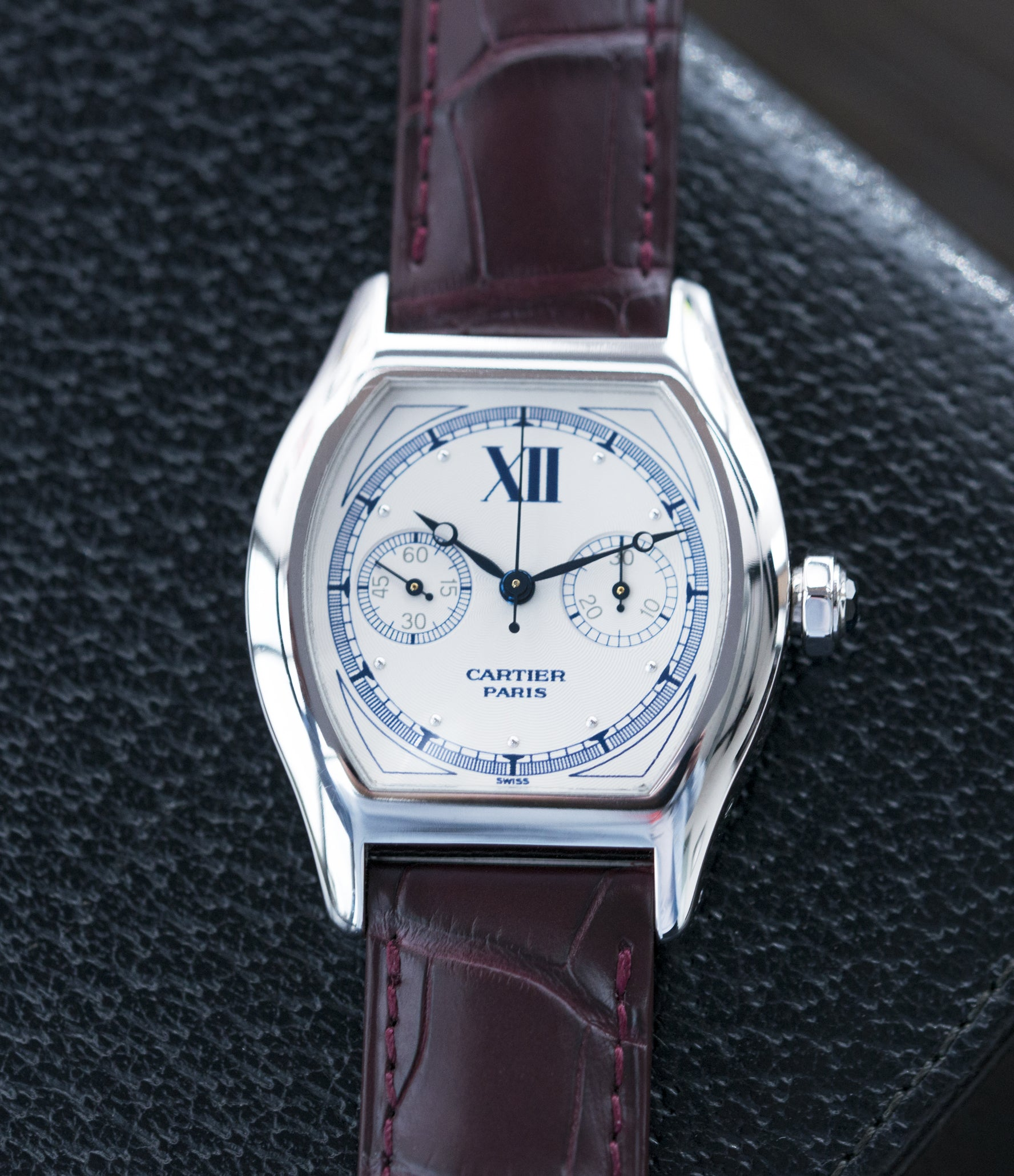buying Cartier Monopusher Monopoussoir ref. 2396 white gold dress watch  with THA ebauche for sale
