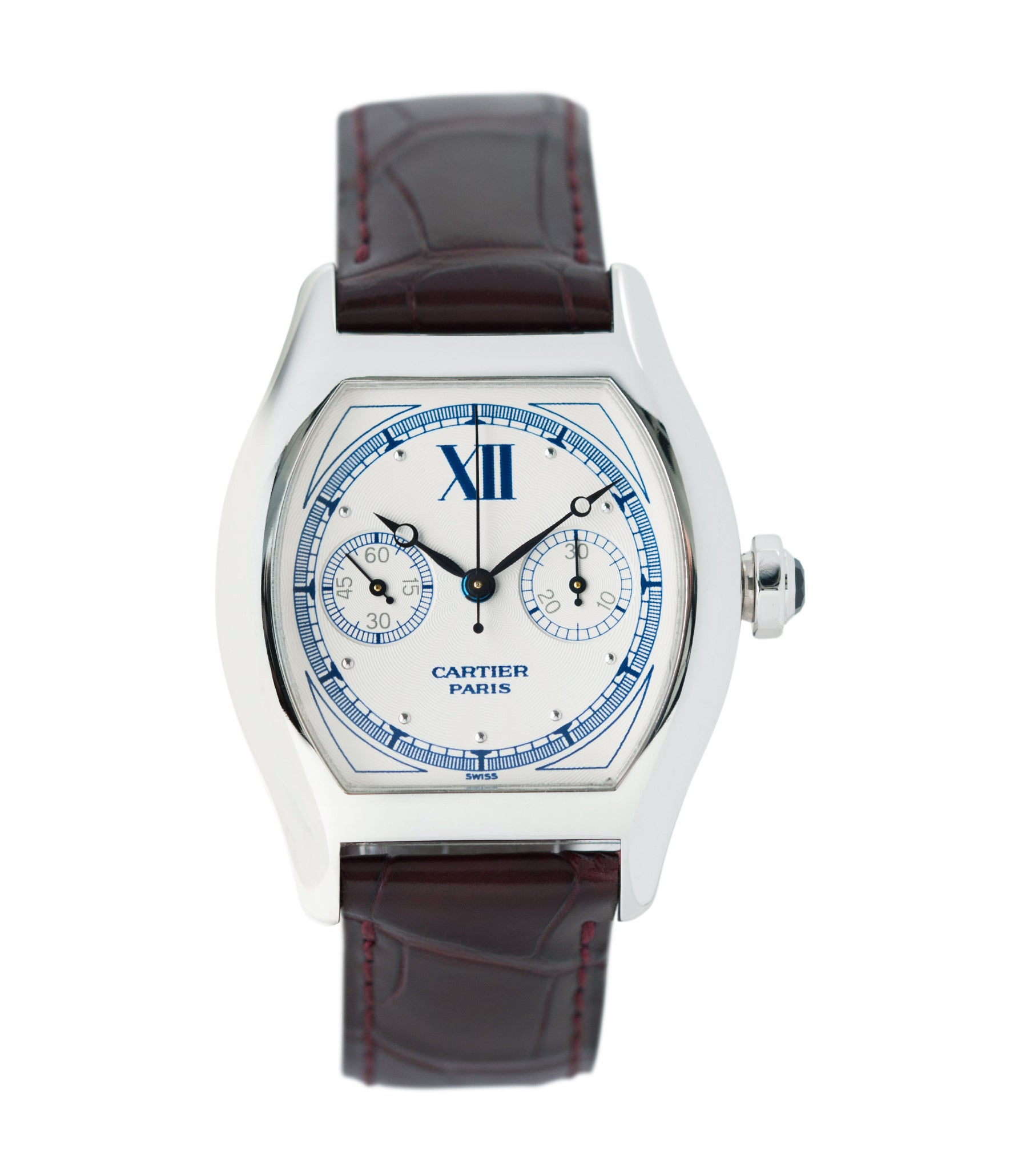 buy Cartier Monopusher Monopoussoir ref. 2396 white gold dress watch with  THA ebauche for sale