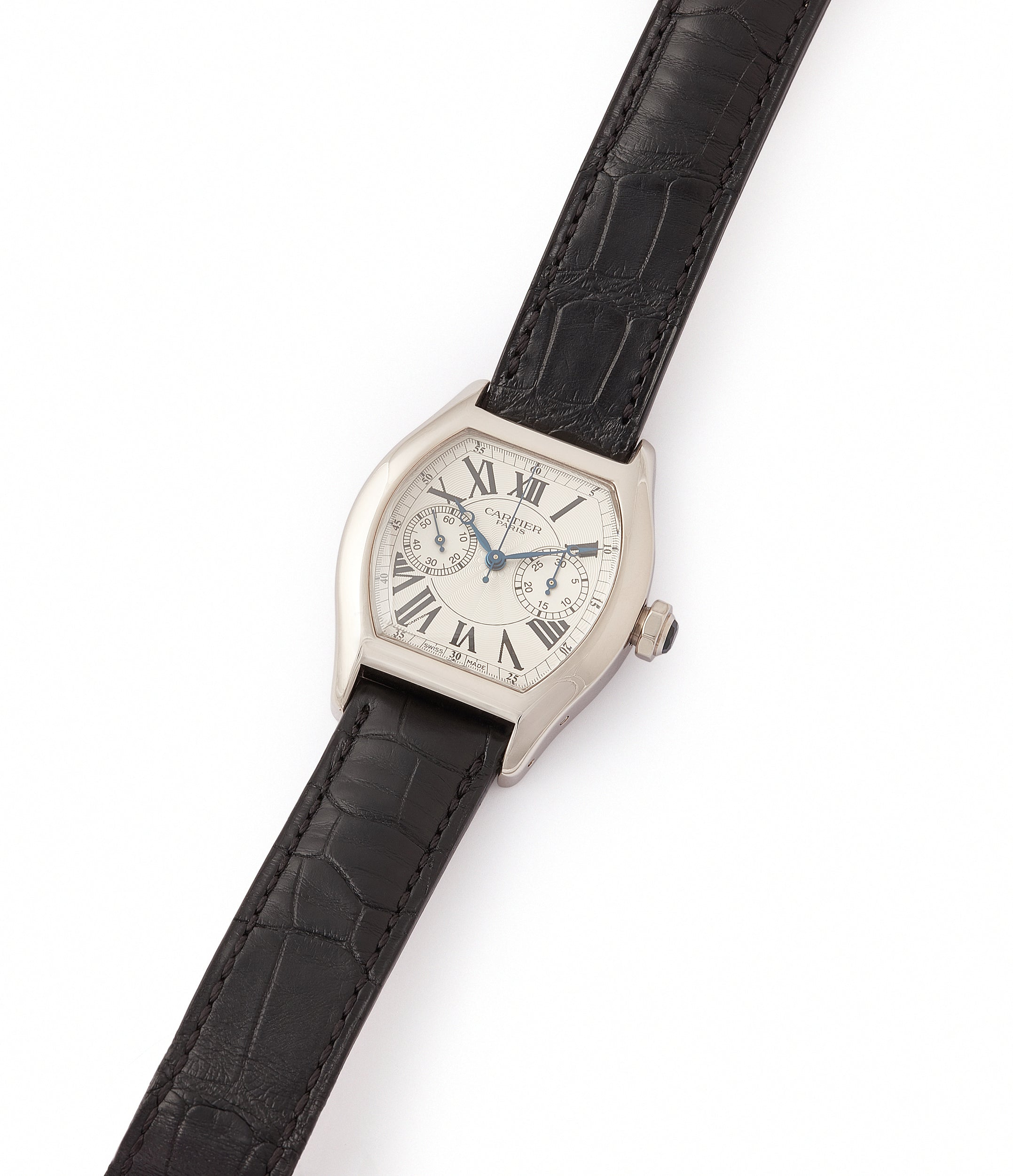 selling Cartier Monopusher Monopoussoir Ref. 2714 white gold rare dress watch for sale online at A Collected Man London UK specialist of rare watches