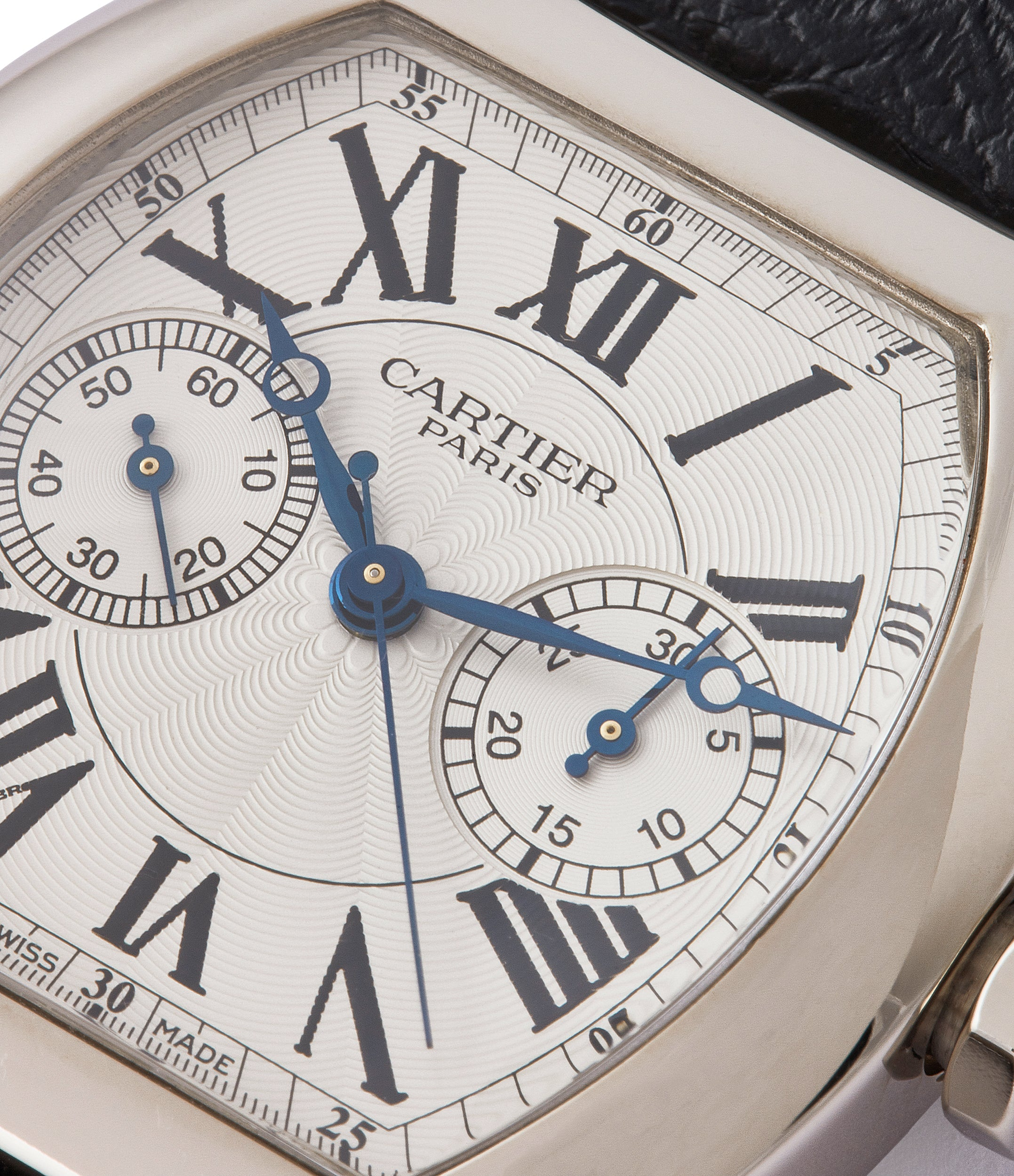for sale Cartier Monopusher Monopoussoir Ref. 2714 white gold rare dress watch for sale online at A Collected Man London UK specialist of rare watches