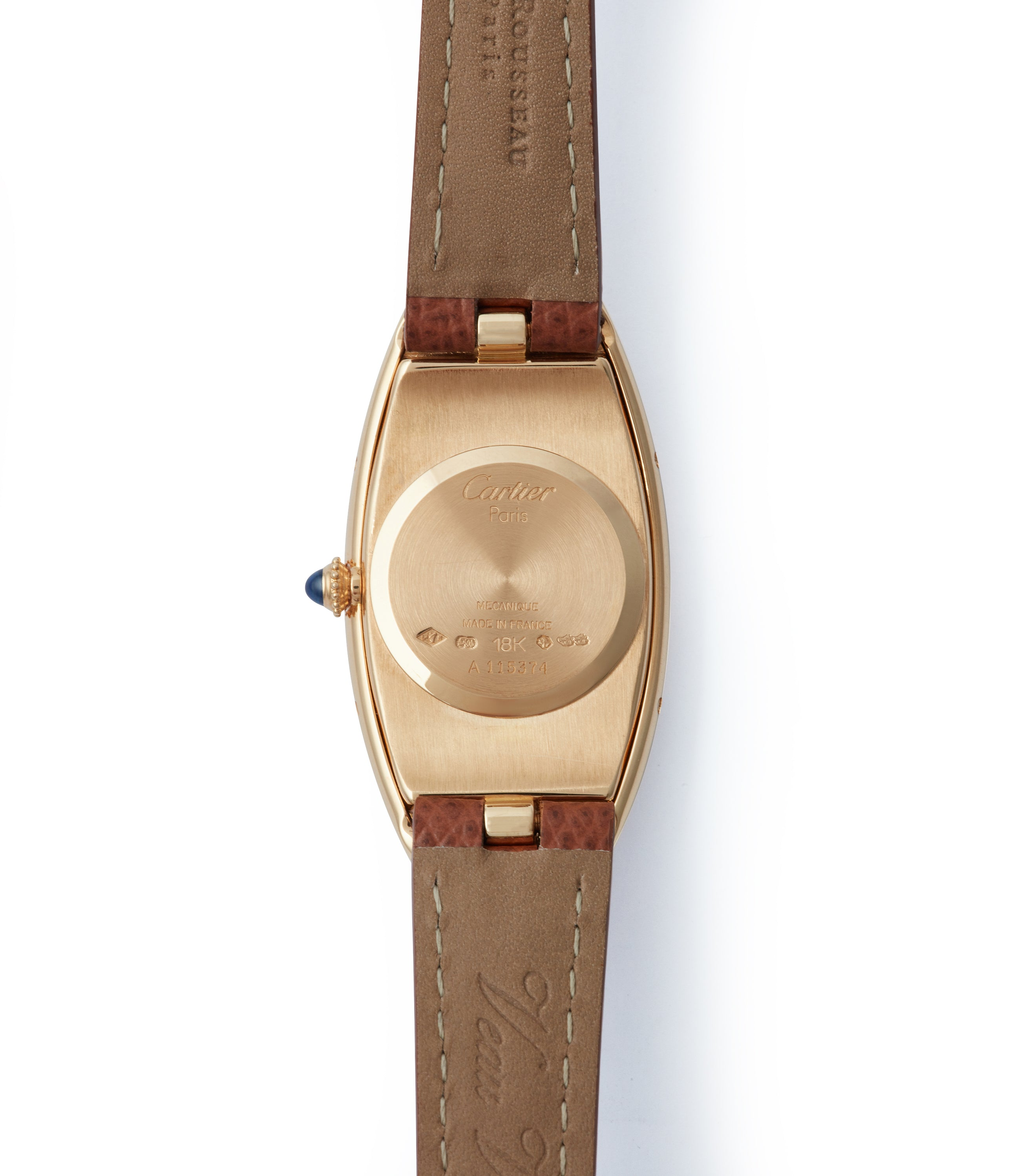 Calibre 078 Cartier Baignoire Allongée vintage pink gold time-only dress watch for sale online A Collected Man London British specialist of rare watches
