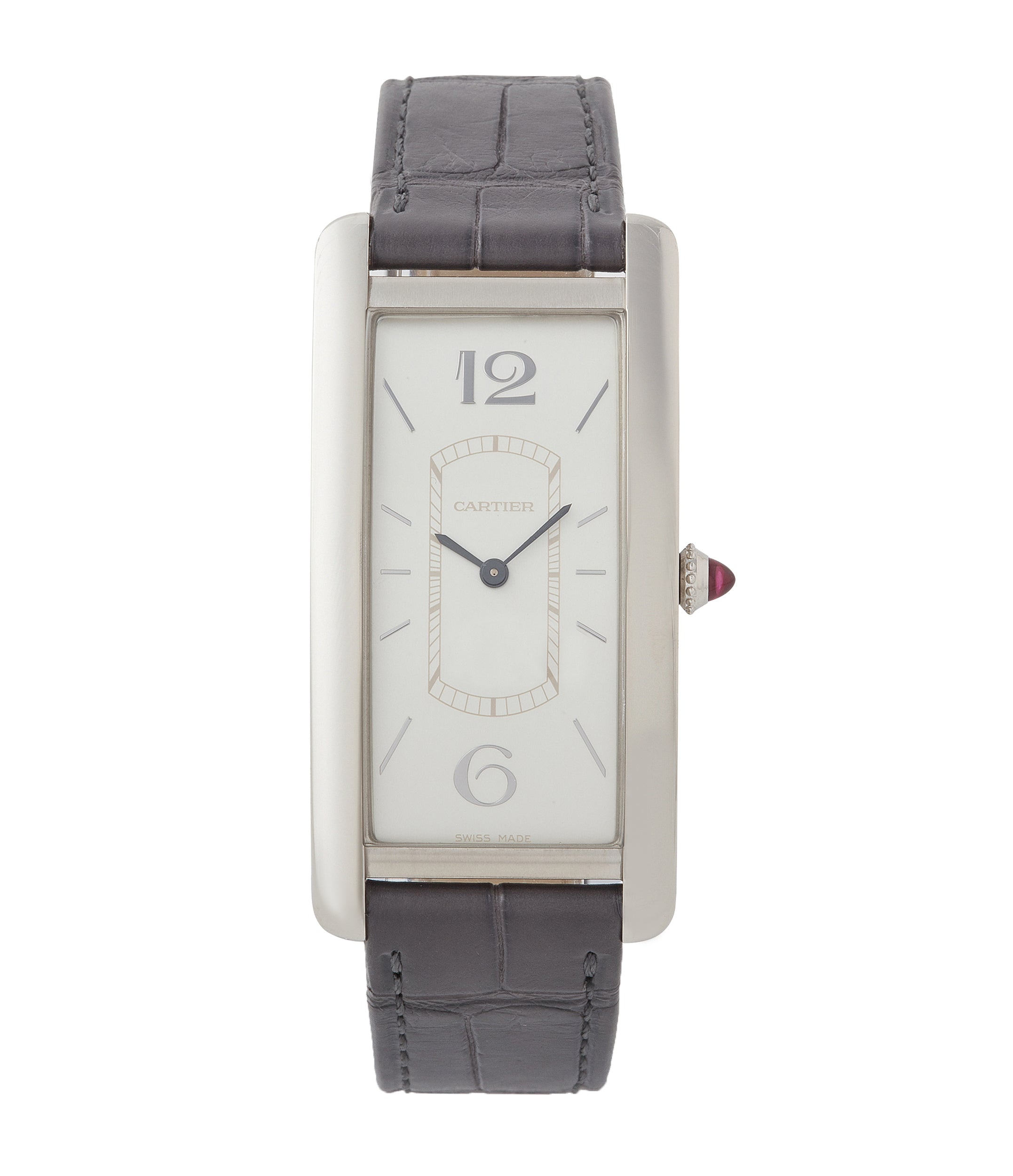 buy pre-owned Cartier Tank Cintree platinum limited edition time-only watch for sale online at A Collected Man London UK rare watch specialist
