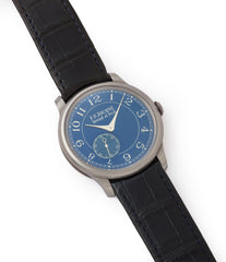 selling pre-owned F. P. Journe Chronometre Bleu tantalum blue dial watch independent watchmaker for sale online at A Collected Man London UK specialist of rare watches