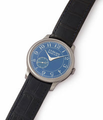 buy pre-owned F. P. Journe Chronometre Bleu tantalum blue dial watch independent watchmaker for sale online at A Collected Man London UK specialist of rare watches