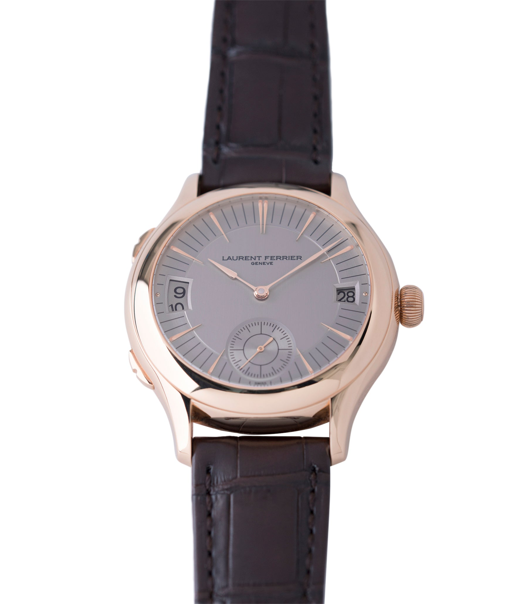 buy rose gold Laurent Ferrier Galet Traveller Micro Rotor LF 230.01 rose gold watch additional prototype dial for sale online at A Collected Man London UK approved reseller of preowned independent watchmakers