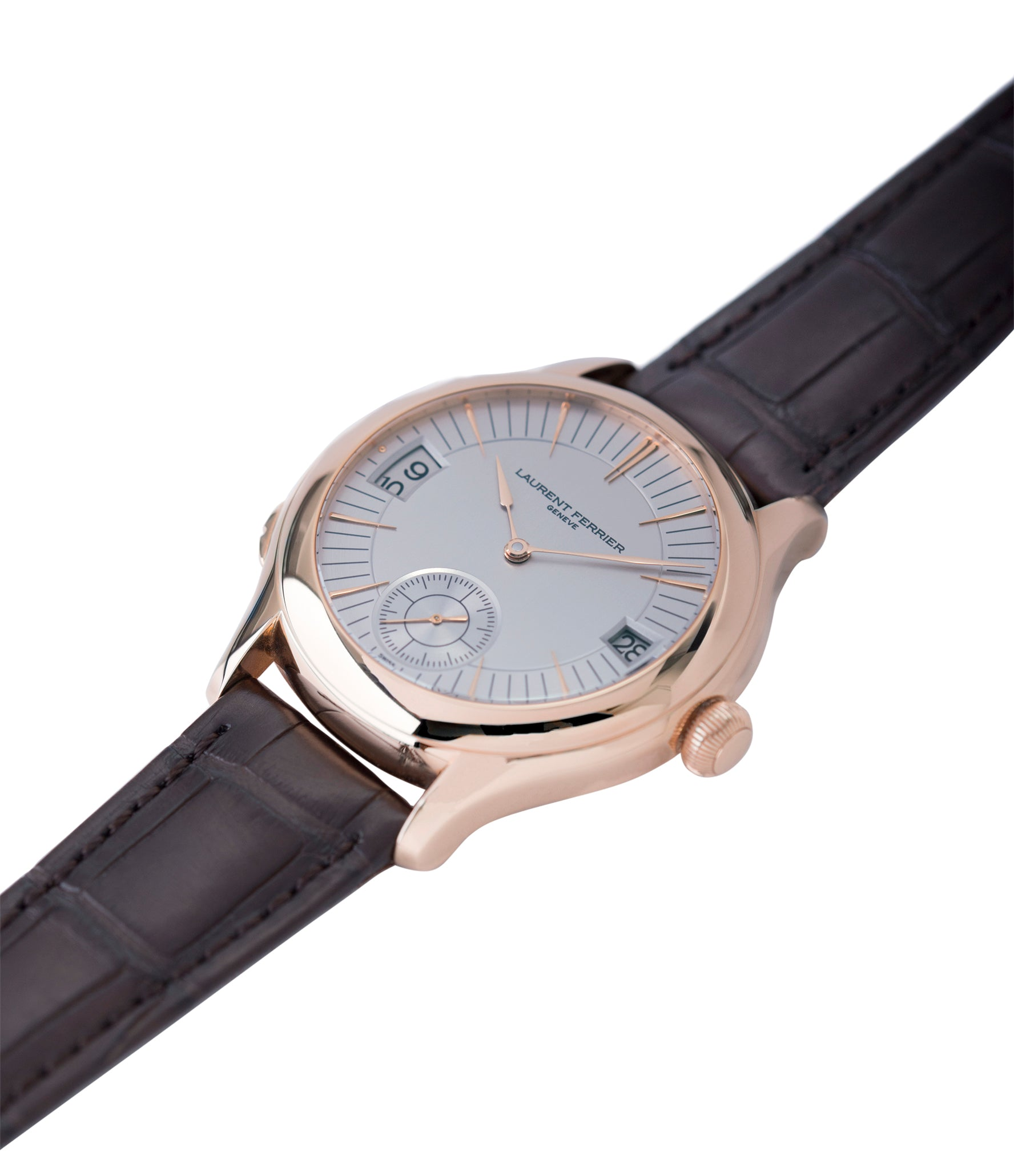 buy preowned Laurent Ferrier Galet Traveller Micro Rotor LF 230.01 rose gold watch additional prototype dial for sale online at A Collected Man London UK approved reseller of preowned independent watchmakers