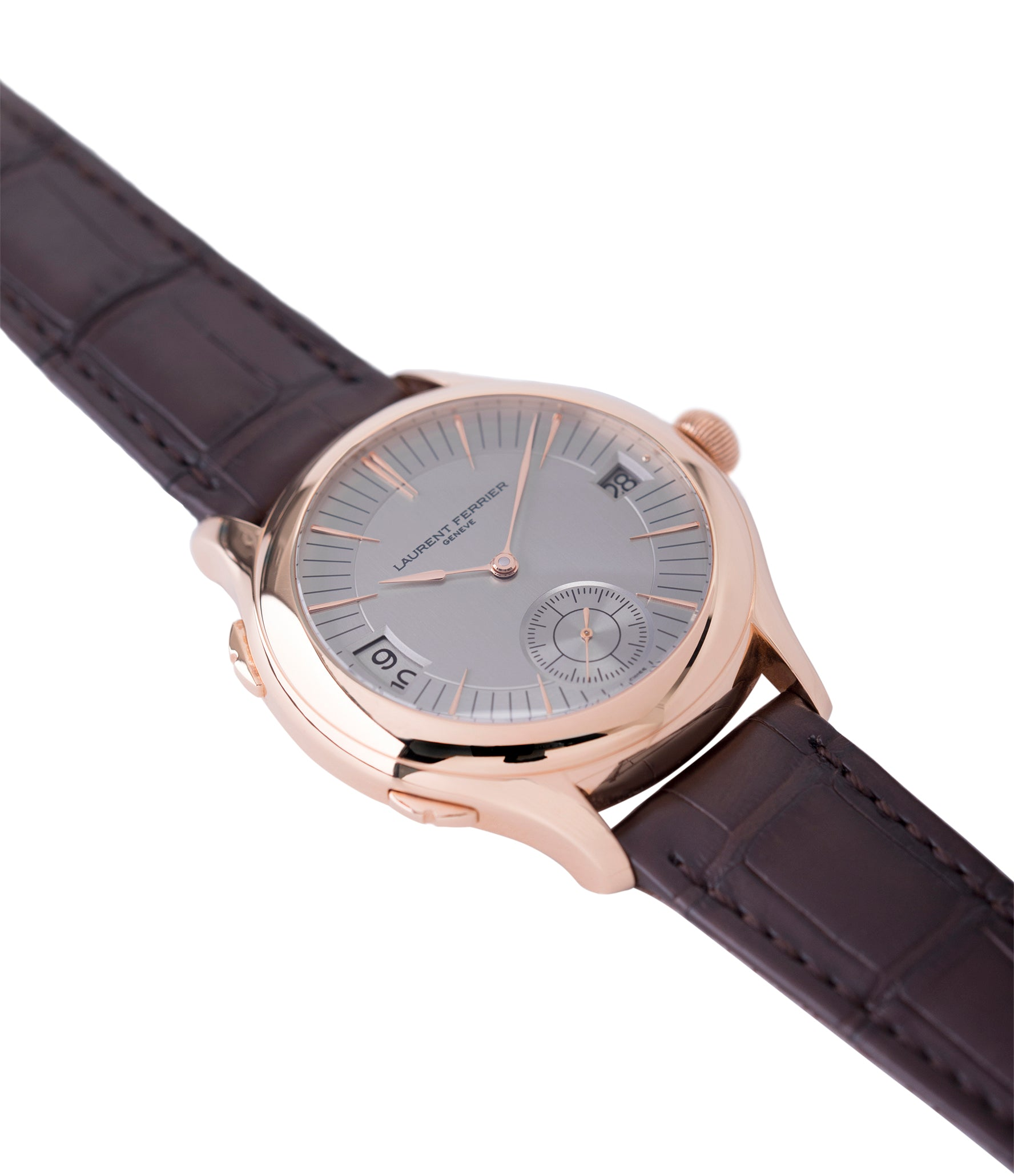 for sale Laurent Ferrier Galet Traveller Micro Rotor LF 230.01 rose gold watch additional prototype dial for sale online at A Collected Man London UK approved reseller of preowned independent watchmakers