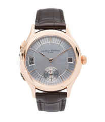 buy Laurent Ferrier Galet Traveller Micro Rotor LF 230.01 rose gold watch additional prototype dial for sale online at A Collected Man London UK approved reseller of preowned independent watchmakers