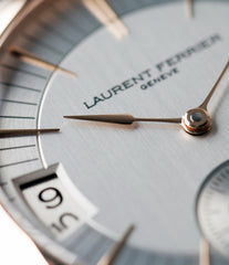 elegant traveller watch Laurent Ferrier Galet Traveller Micro Rotor LF 230.01 rose gold watch additional prototype dial for sale online at A Collected Man London UK approved reseller of preowned independent watchmakers