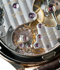 hand-finished movement Laurent Ferrier Galet Traveller Micro Rotor LF 230.01 rose gold watch additional prototype dial for sale online at A Collected Man London UK approved reseller of preowned independent watchmakers