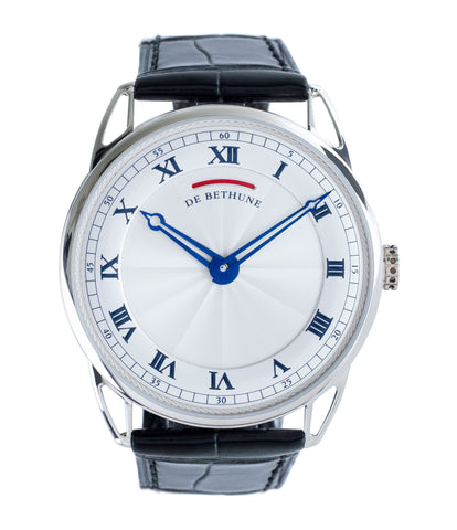 buy De Bethune DB25 white gold preowned luxury gentlemen's wristwatch for sale online at A Collected Man London approved reseller of independent watchmakers