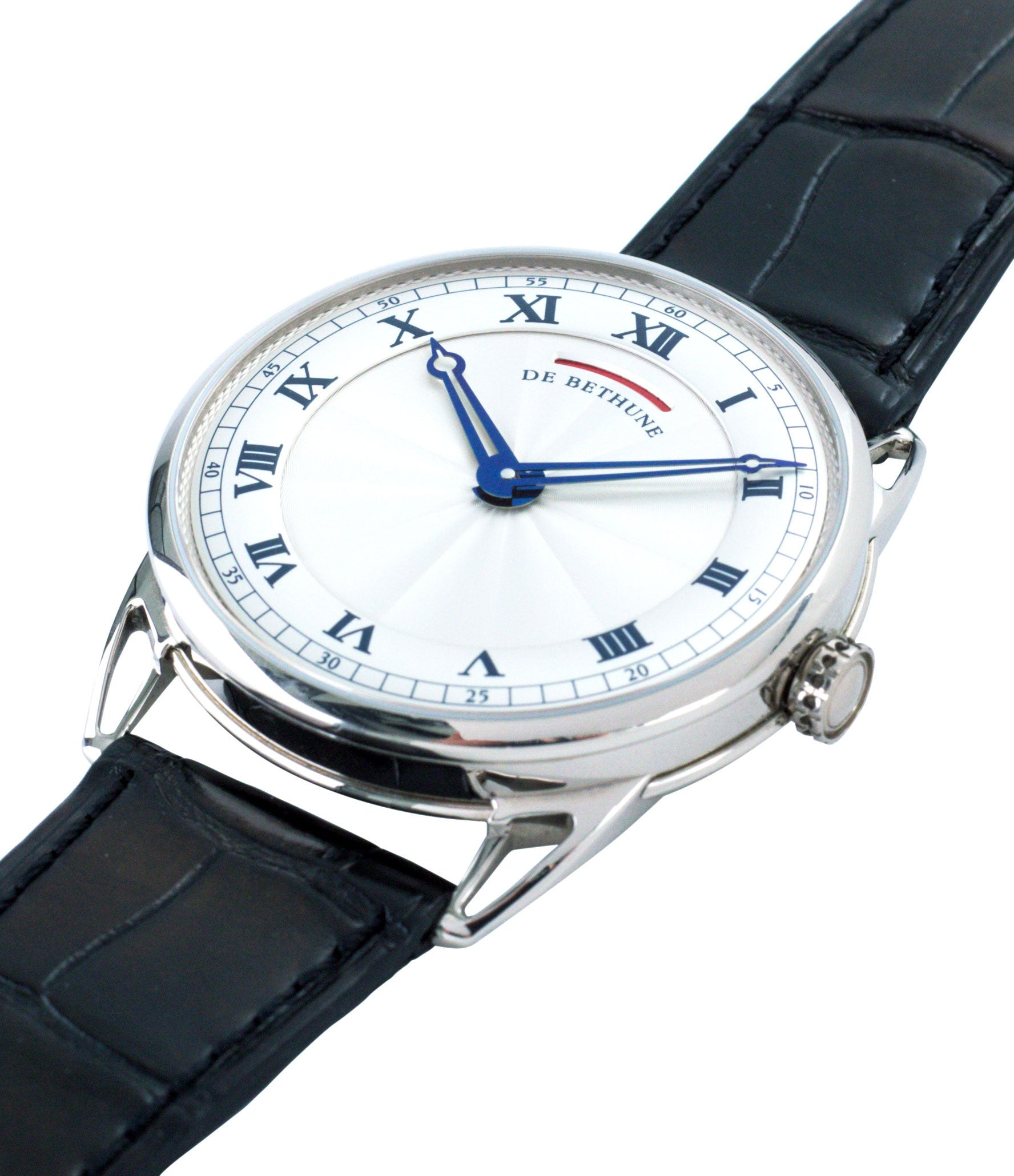 buy preowned luxury watch De Bethune DB25 white gold gentlemen's wristwatch for sale online at A Collected Man London approved reseller of independent watchmakers