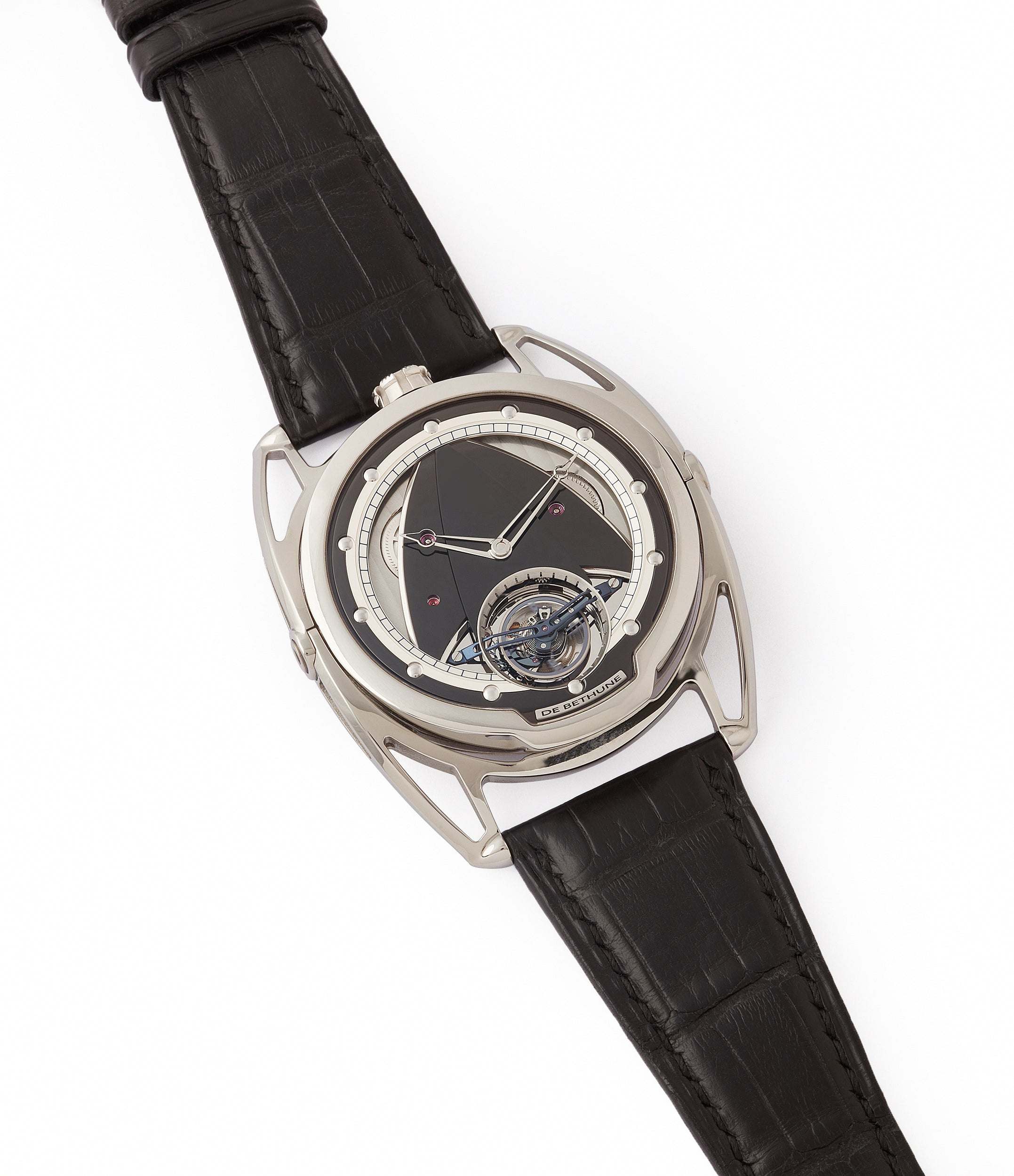 sell De Bethune DB28T tourbillon titanium time-only watch from independent watchmaker for sale online at A Collected Man London UK specialist of rare watches
