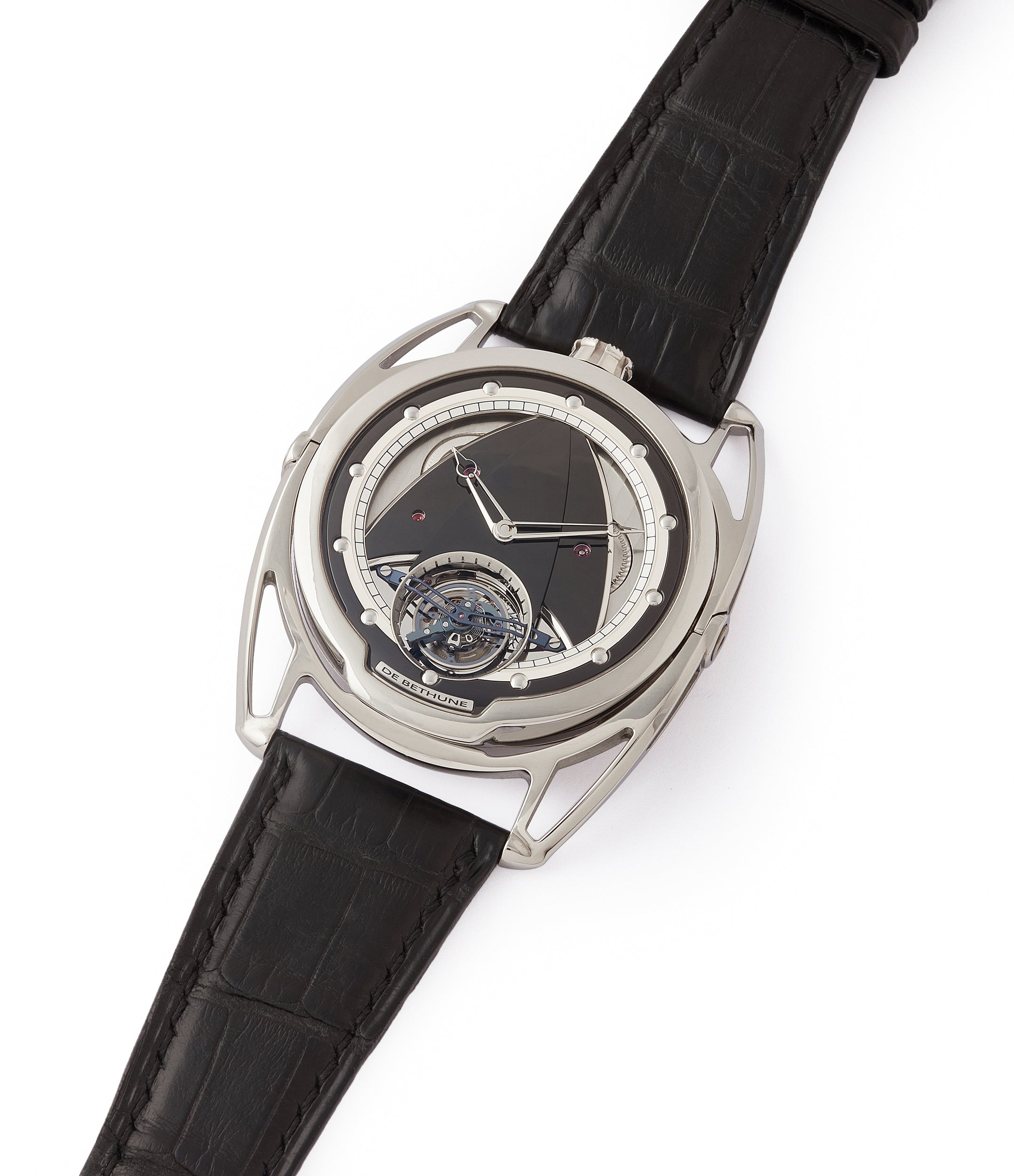 for sale De Bethune DB28T tourbillon titanium time-only watch from independent watchmaker for sale online at A Collected Man London UK specialist of rare watches