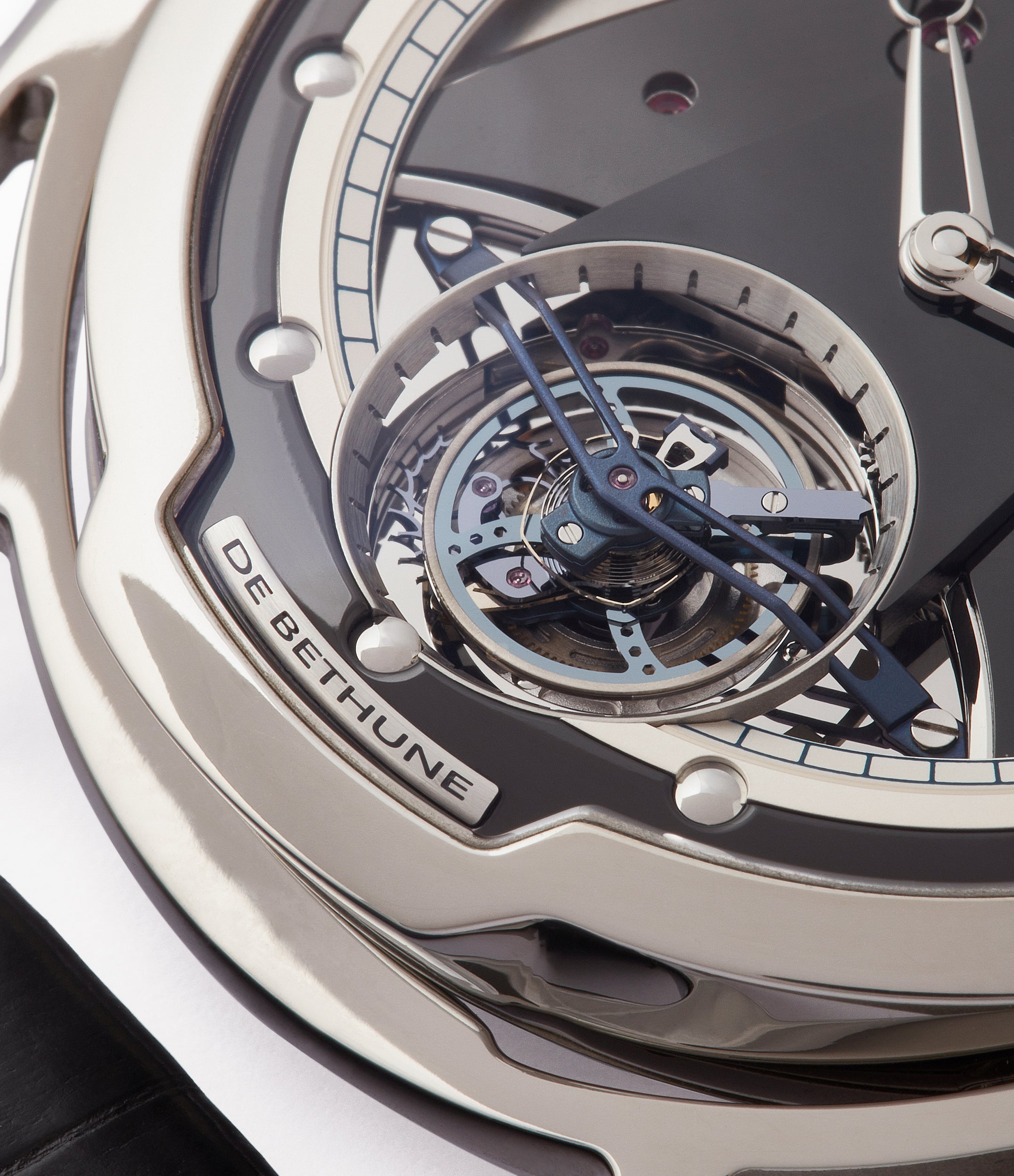 tourbillon De Bethune DB28T titanium time-only watch from independent watchmaker for sale online at A Collected Man London UK specialist of rare watches