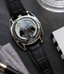 De Bethune DB28T tourbillon titanium time-only watch from independent watchmaker for sale online at A Collected Man London UK specialist of rare watches