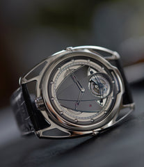 independent watchmaker De Bethune DB28T tourbillon titanium time-only watch from independent watchmaker for sale online at A Collected Man London UK specialist of rare watches
