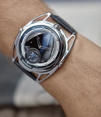 men's luxury wristwatch De Bethune DB28T tourbillon titanium time-only watch from independent watchmaker for sale online at A Collected Man London UK specialist of rare watches