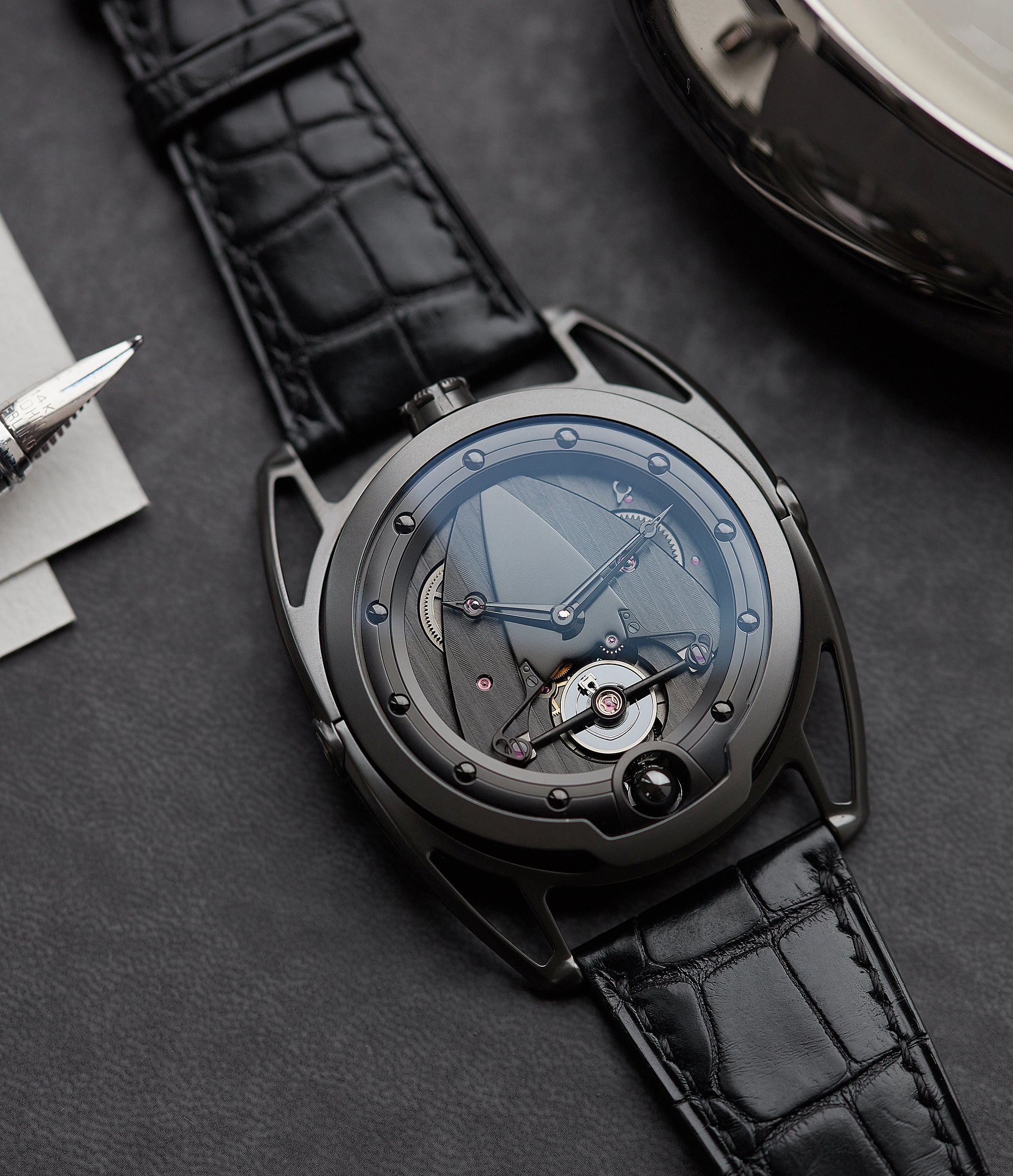 pre-owned De Bethune DB28 Dark Shadows independent watchmaker for sale online at A Collected Man London UK specilaist of rare watches