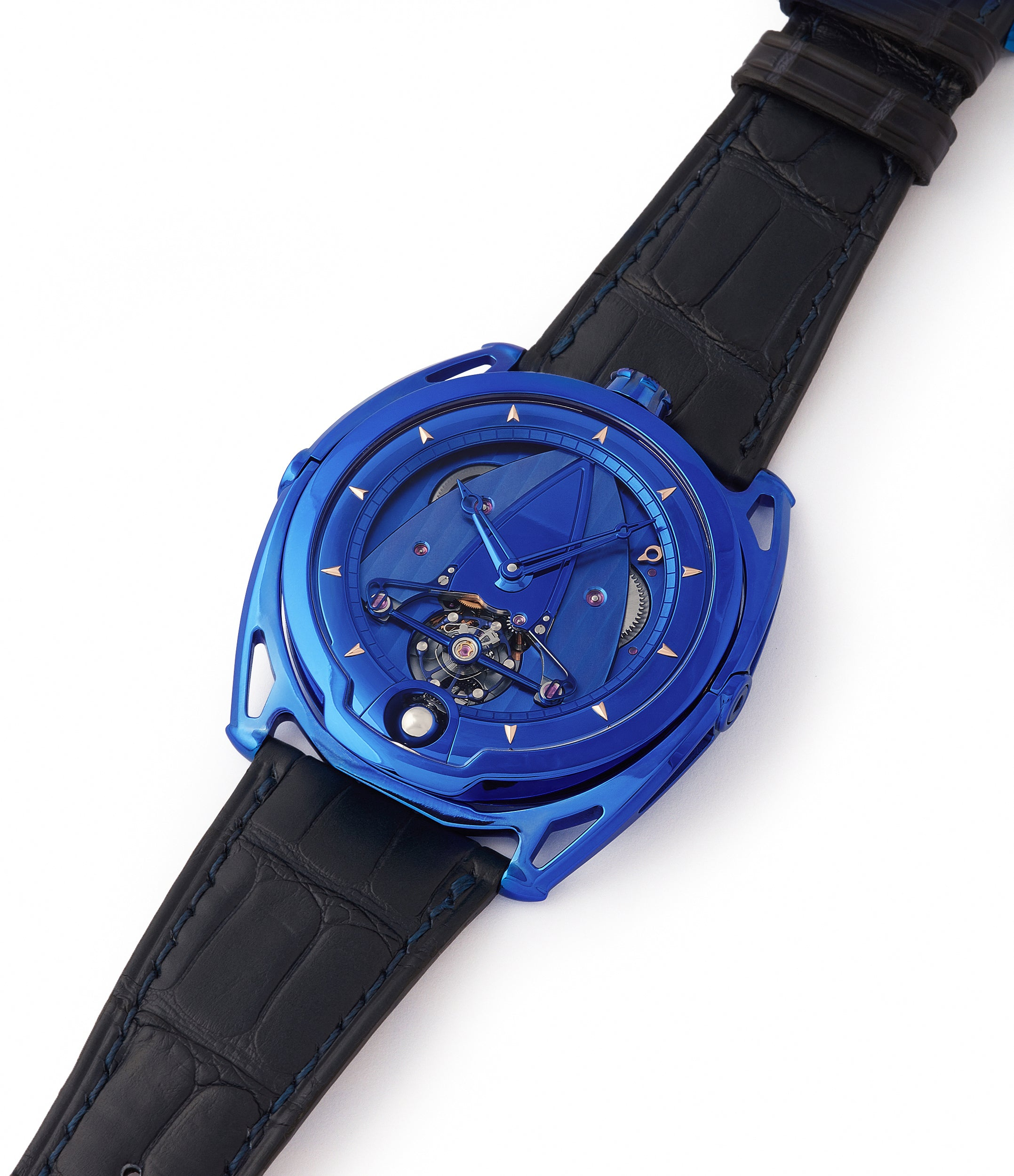 for sale De Bethune DB28 Kind of Blue titanium rare limited edition independent watchmaker at A Collected Man London UK specilaist of rare watches