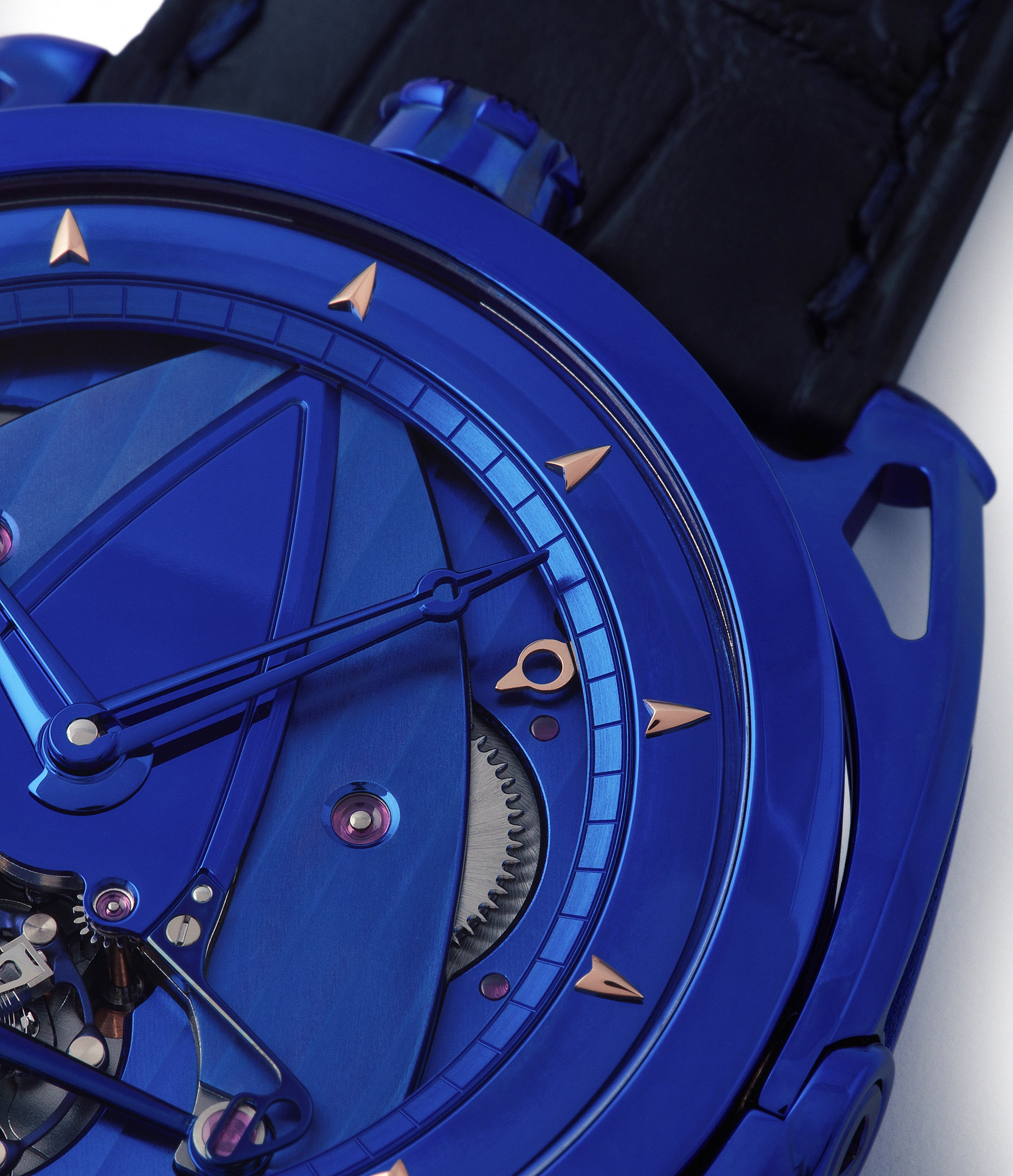 DB28 De Bethune Kind of Blue titanium rare limited edition independent watchmaker for sale at A Collected Man London UK specilaist of rare watches