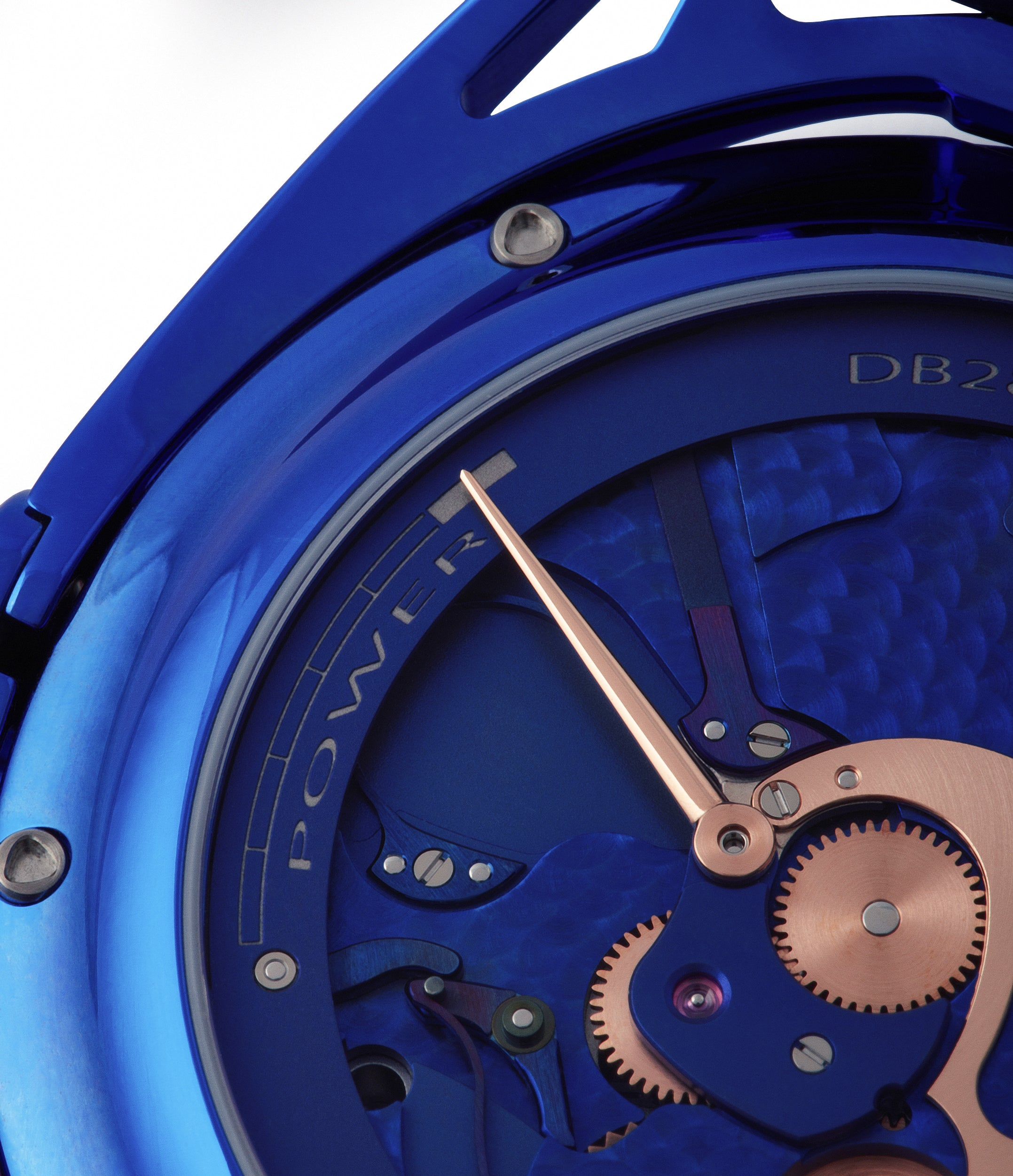 blue movement De Bethune DB28 Kind of Blue titanium rare limited edition independent watchmaker for sale at A Collected Man London UK specilaist of rare watches