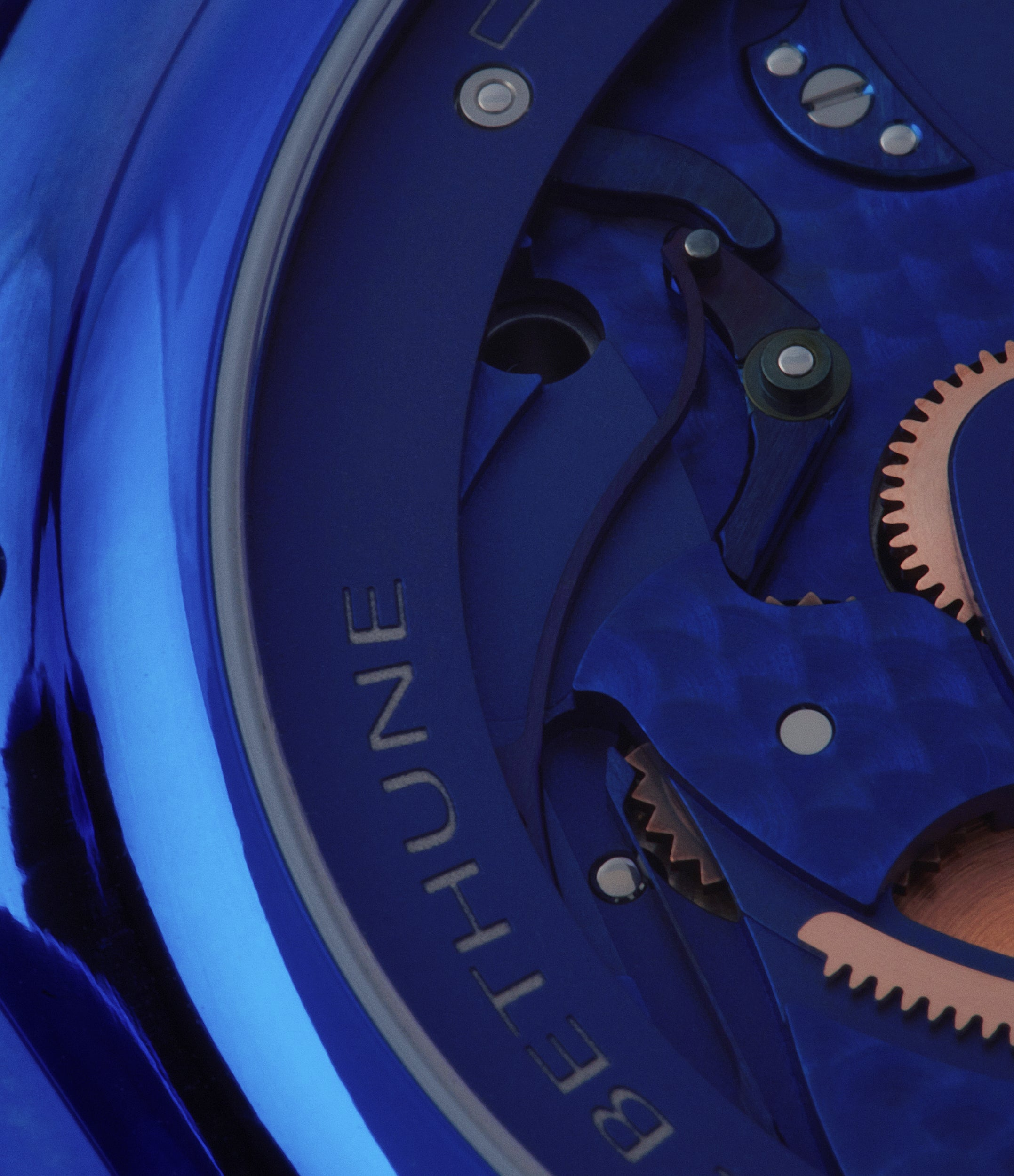 blue calibre De Bethune DB28 Kind of Blue titanium rare limited edition independent watchmaker for sale at A Collected Man London UK specilaist of rare watches