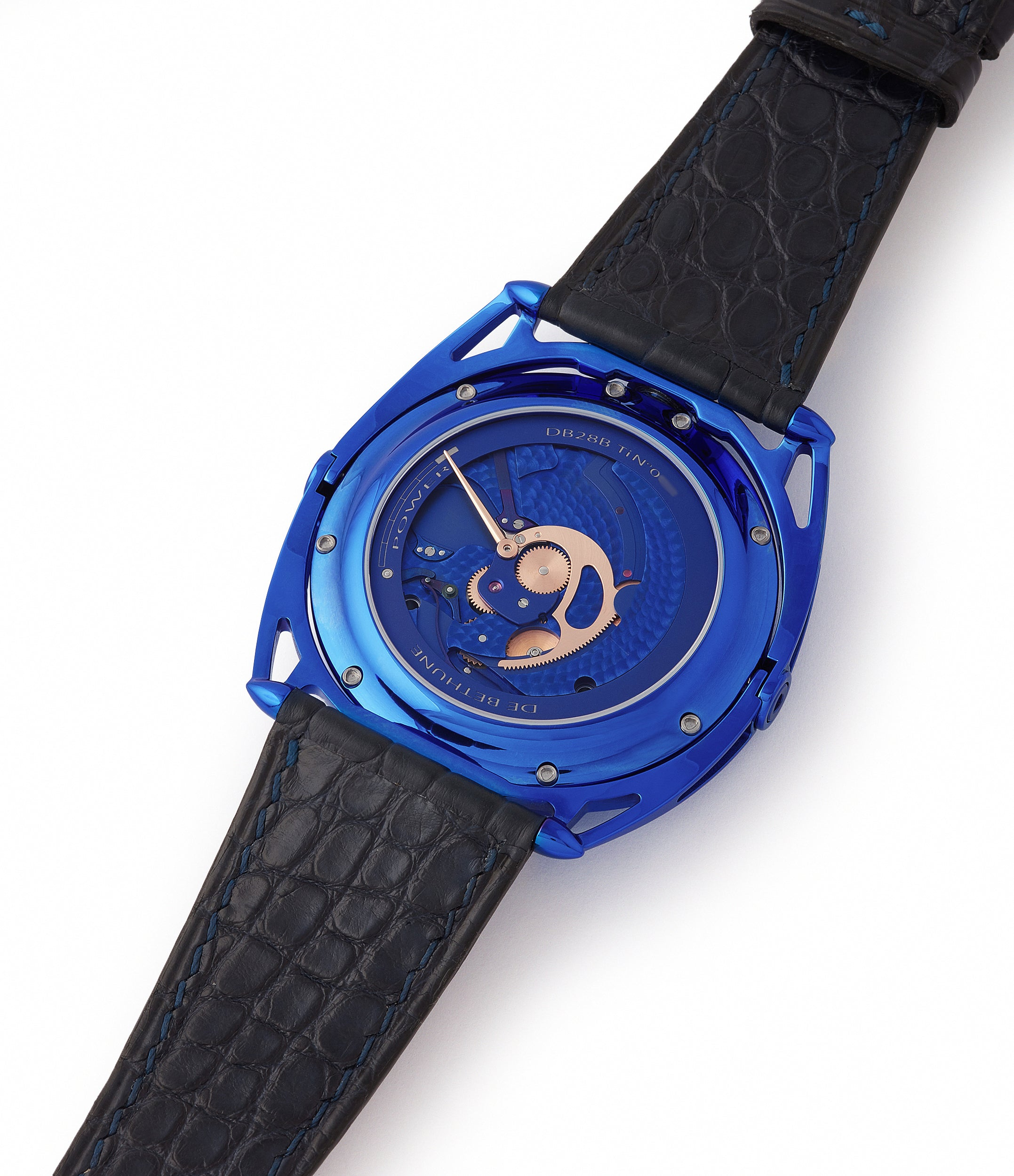 in-house movement independent watchmaker  De Bethune DB28 Kind of Blue titanium rare limited edition for sale at A Collected Man London UK specilaist of rare watches