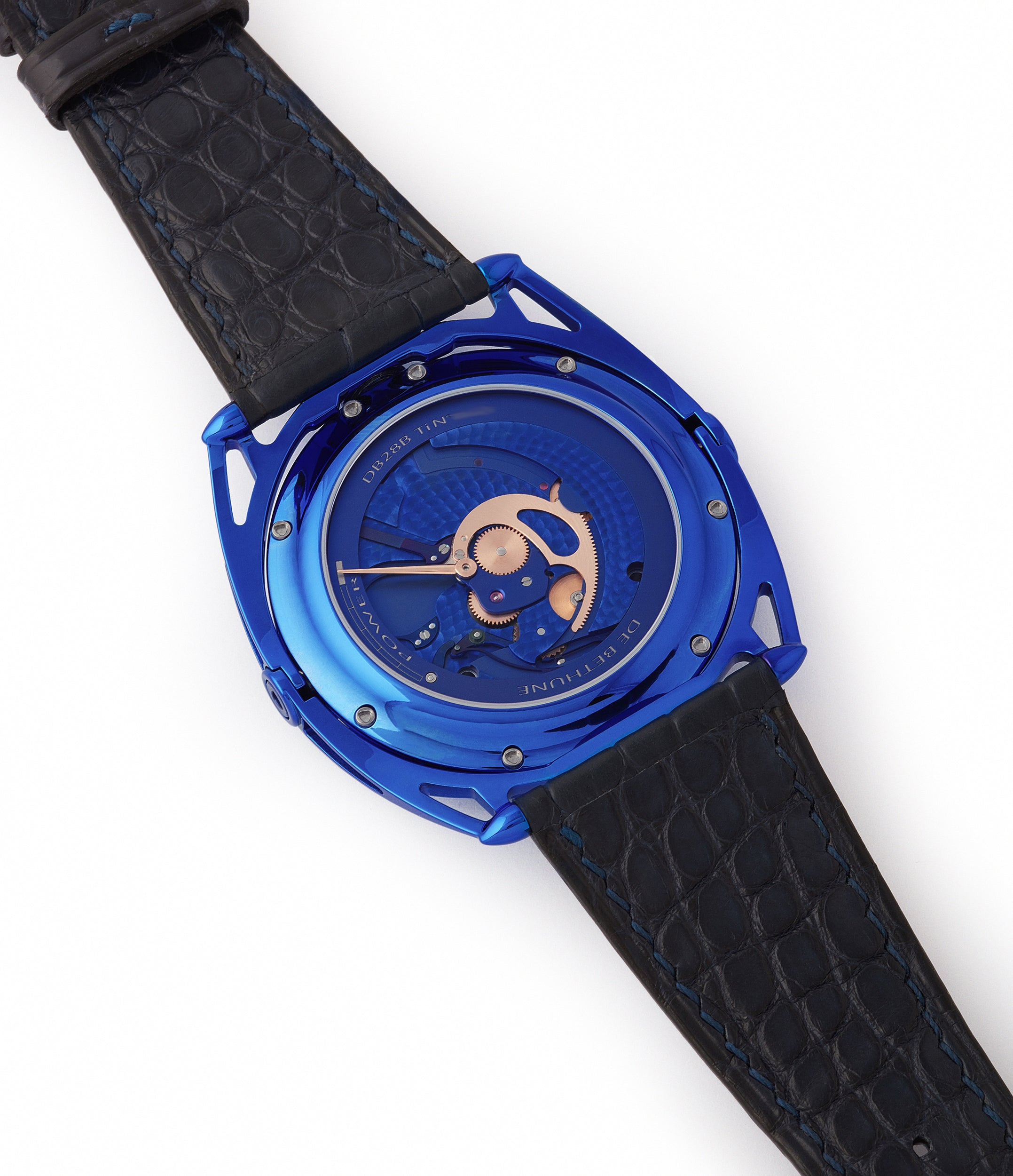 DB2115 De Bethune DB28 Kind of Blue titanium rare limited edition independent watchmaker for sale at A Collected Man London UK specilaist of rare watches