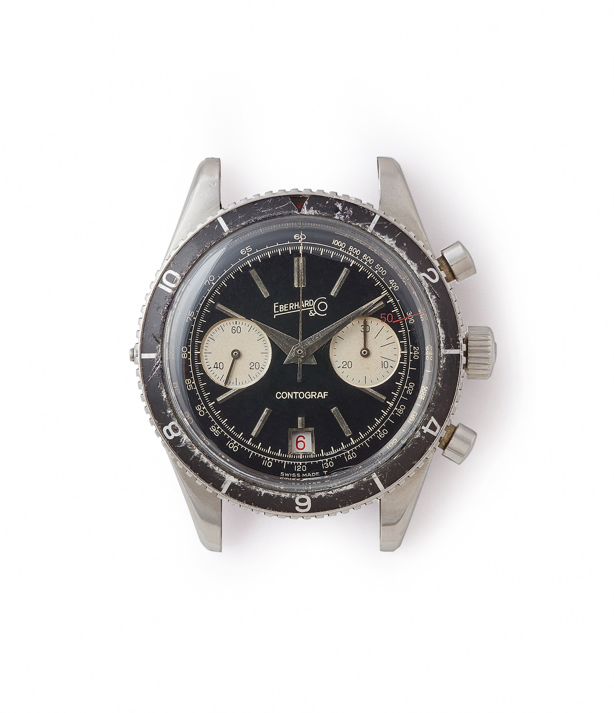 vintage sports watch Eberhard Contograf chronograph steel sports watch for sale online at A Collected Man London UK specialist of rare watches
