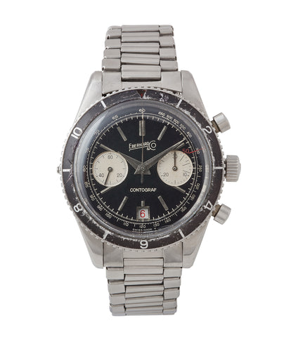 buy vintage Eberhard Contograf chronograph steel sports watch for sale online at A Collected Man London UK specialist of rare watches