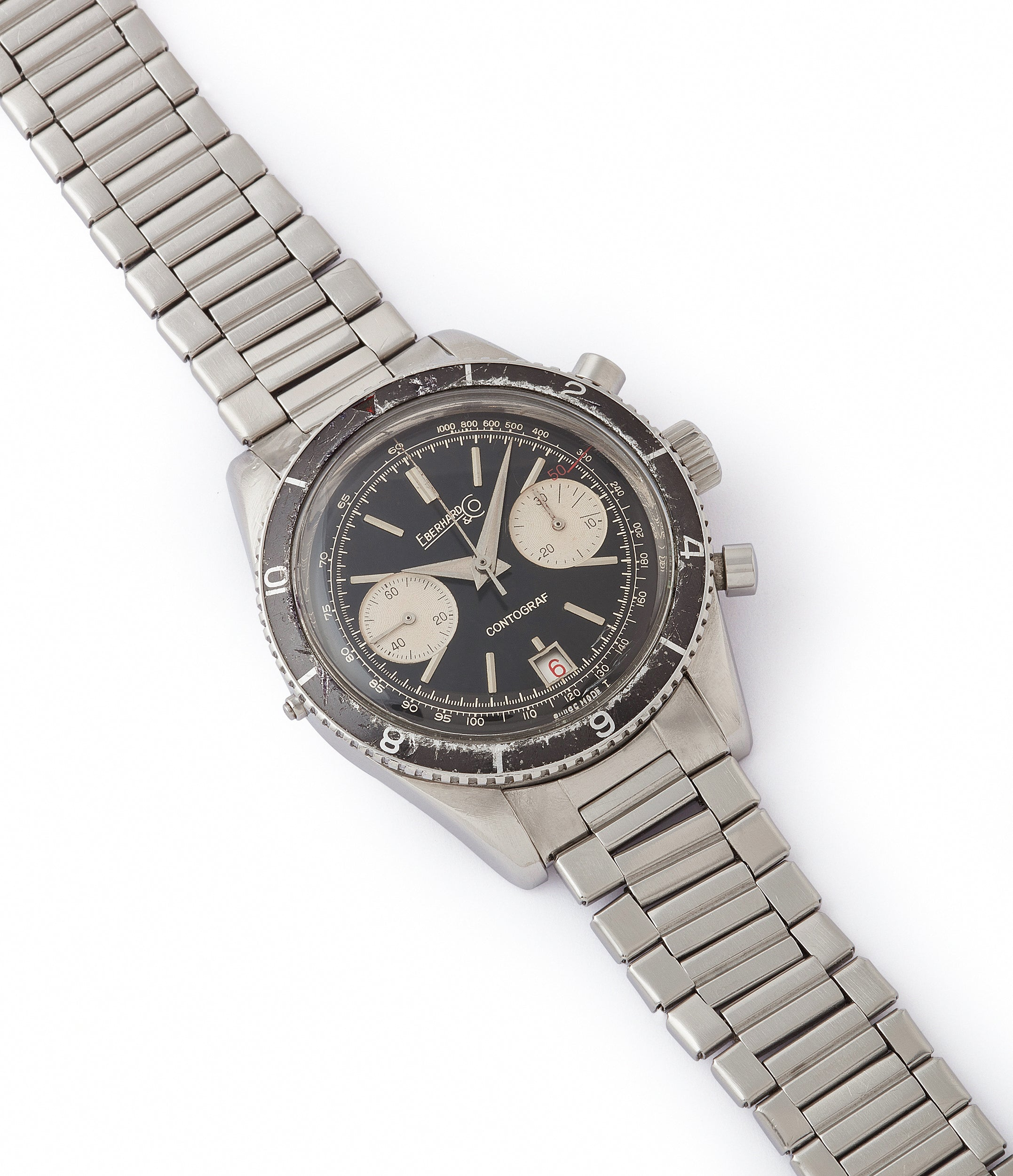 sell vintage Eberhard Contograf chronograph steel sports watch for sale online at A Collected Man London UK specialist of rare watches