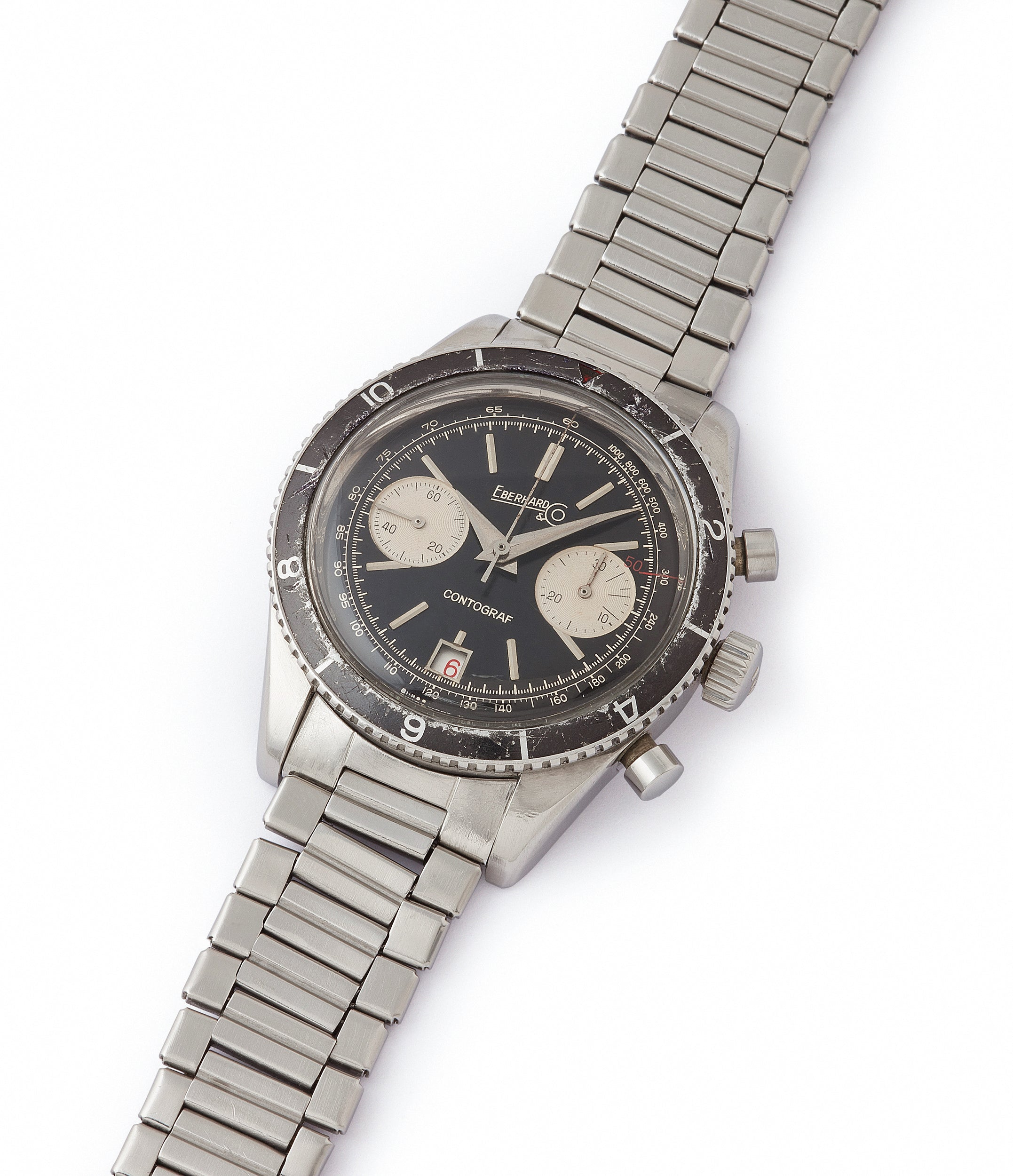 selling vintage Eberhard Contograf chronograph steel sports watch for sale online at A Collected Man London UK specialist of rare watches