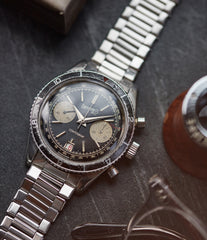 Eberhard Contograf chronograph steel sports watch for sale online at A Collected Man London UK specialist of rare watches