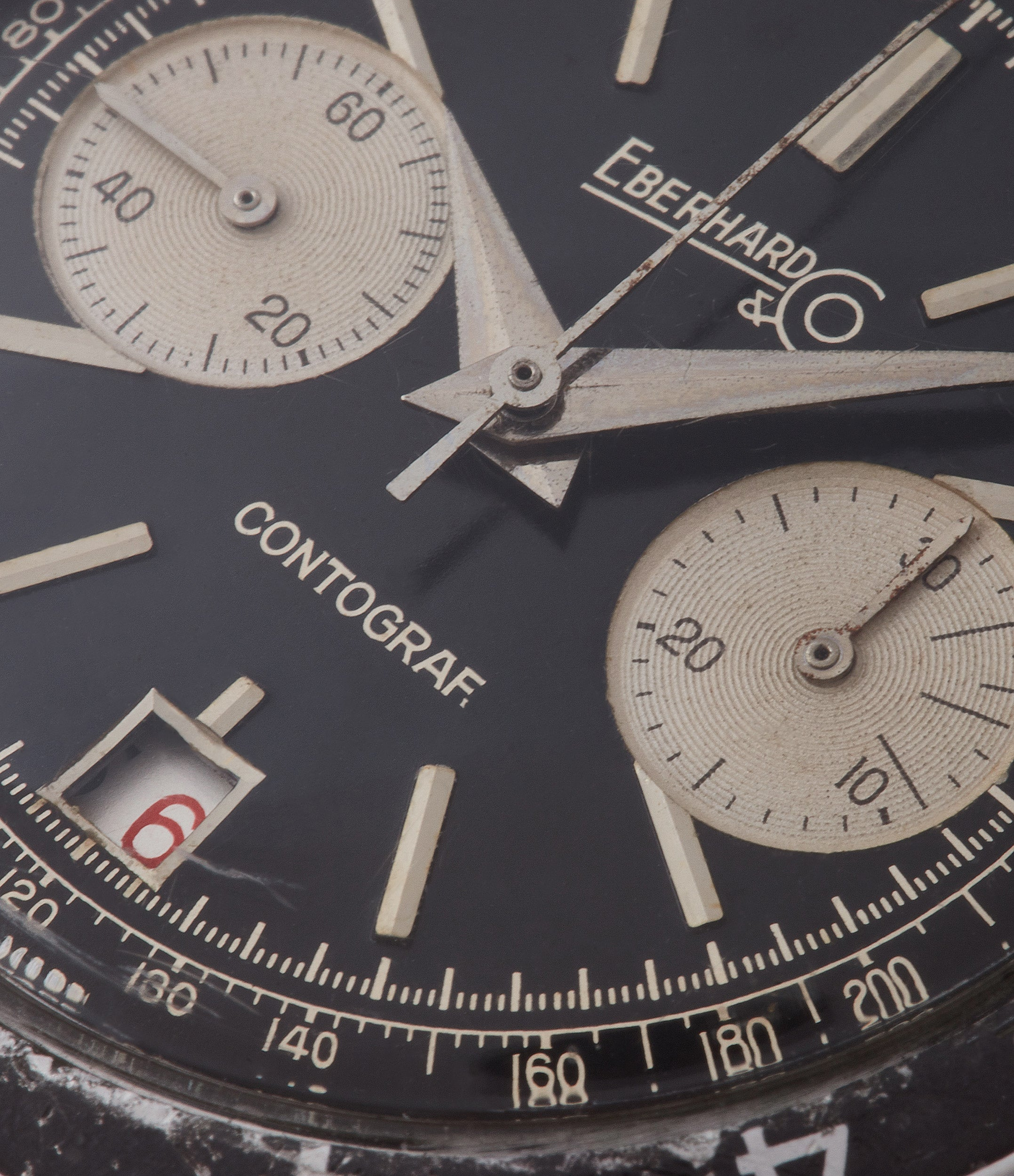 vintage date chronograph watch Eberhard Contograf for sale online at A Collected Man London UK specialist of rare watches