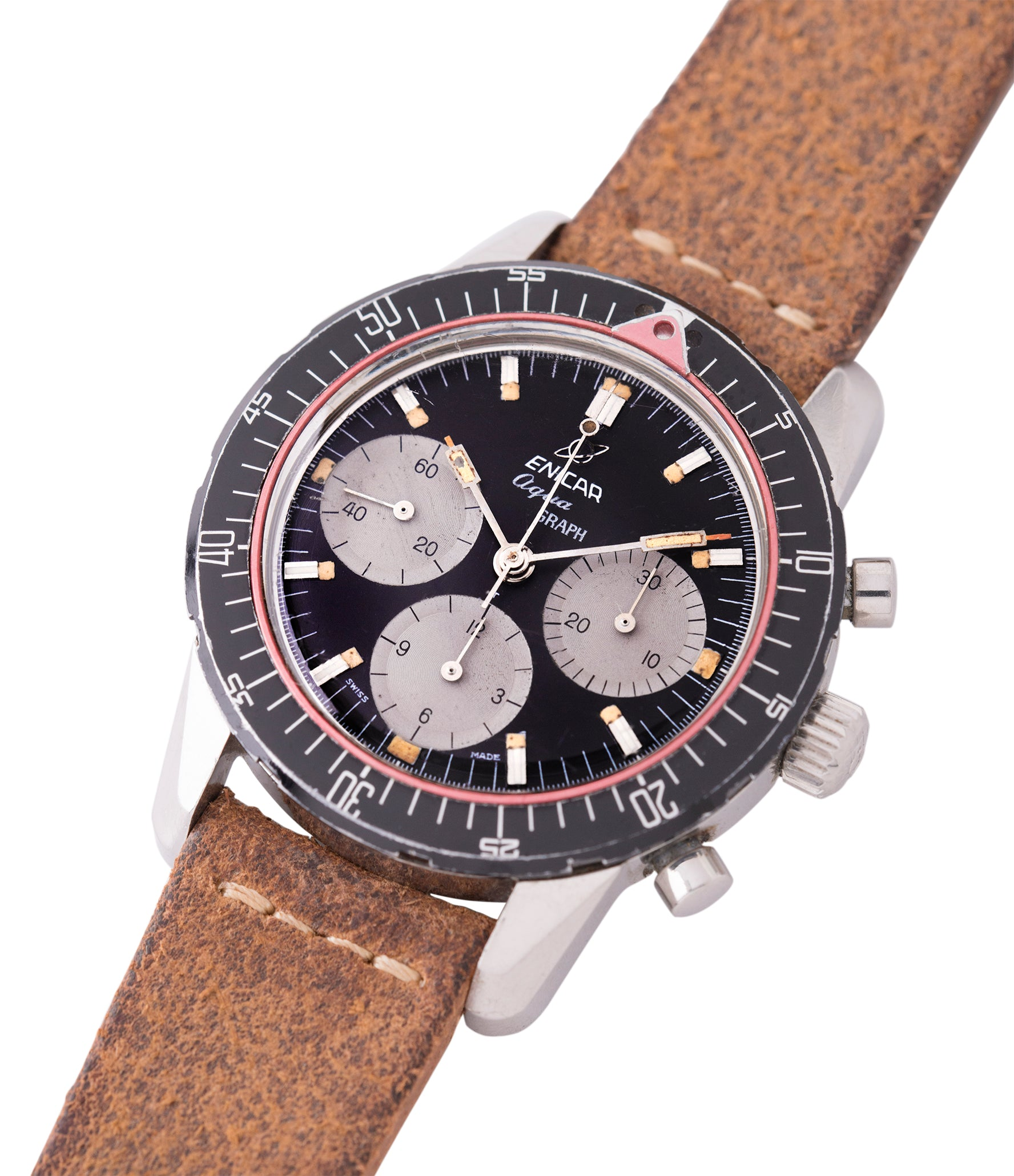 buying vintage Enicar Aqua Graph 072-02-02 steel vintage chronograph watch for sale online at A Collected Man London UK specialist of rare watches