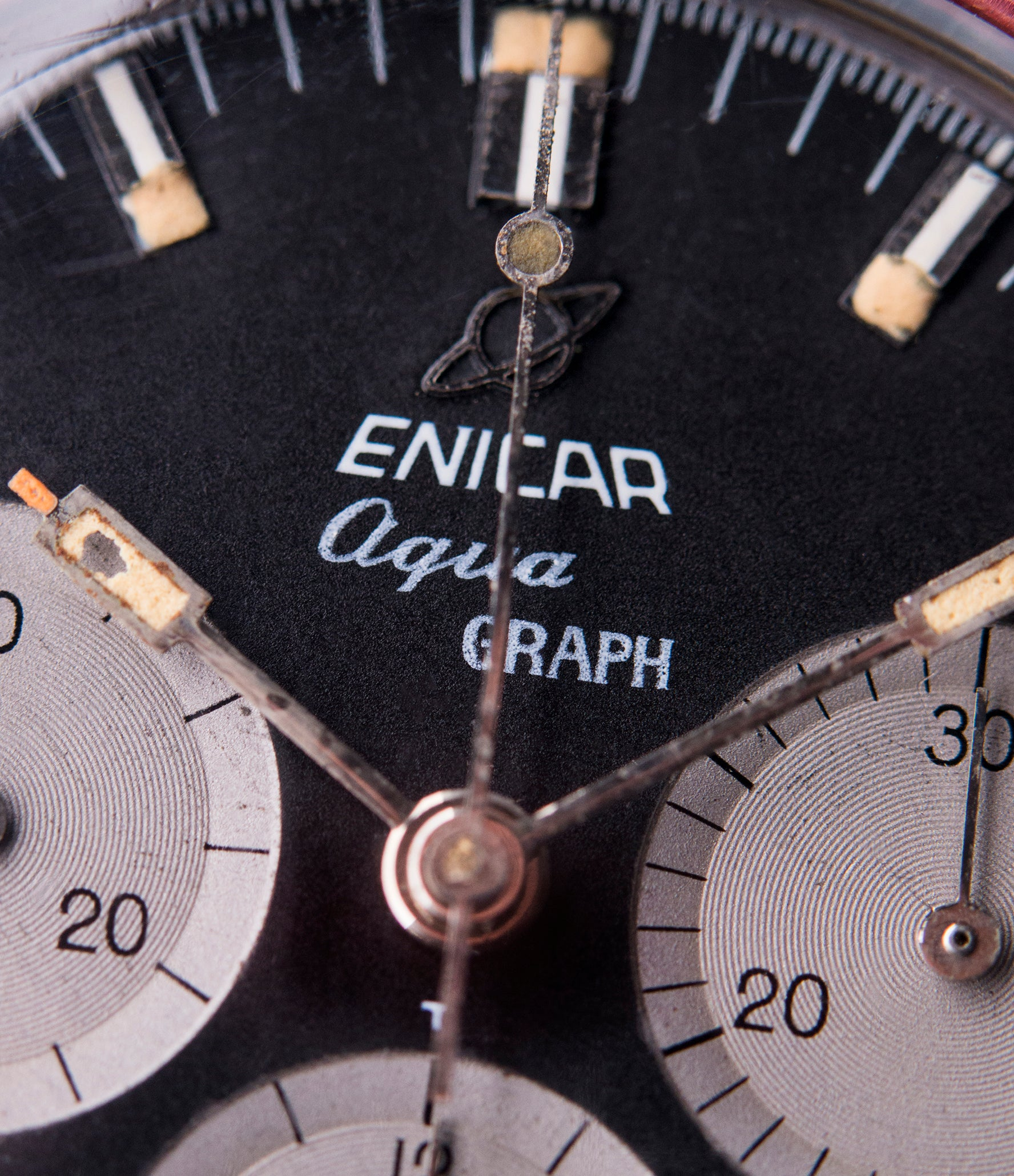 vintage Enicar Aqua Graph 072-02-02 black dial steel vintage chronograph watch for sale online at A Collected Man London UK specialist of rare watches