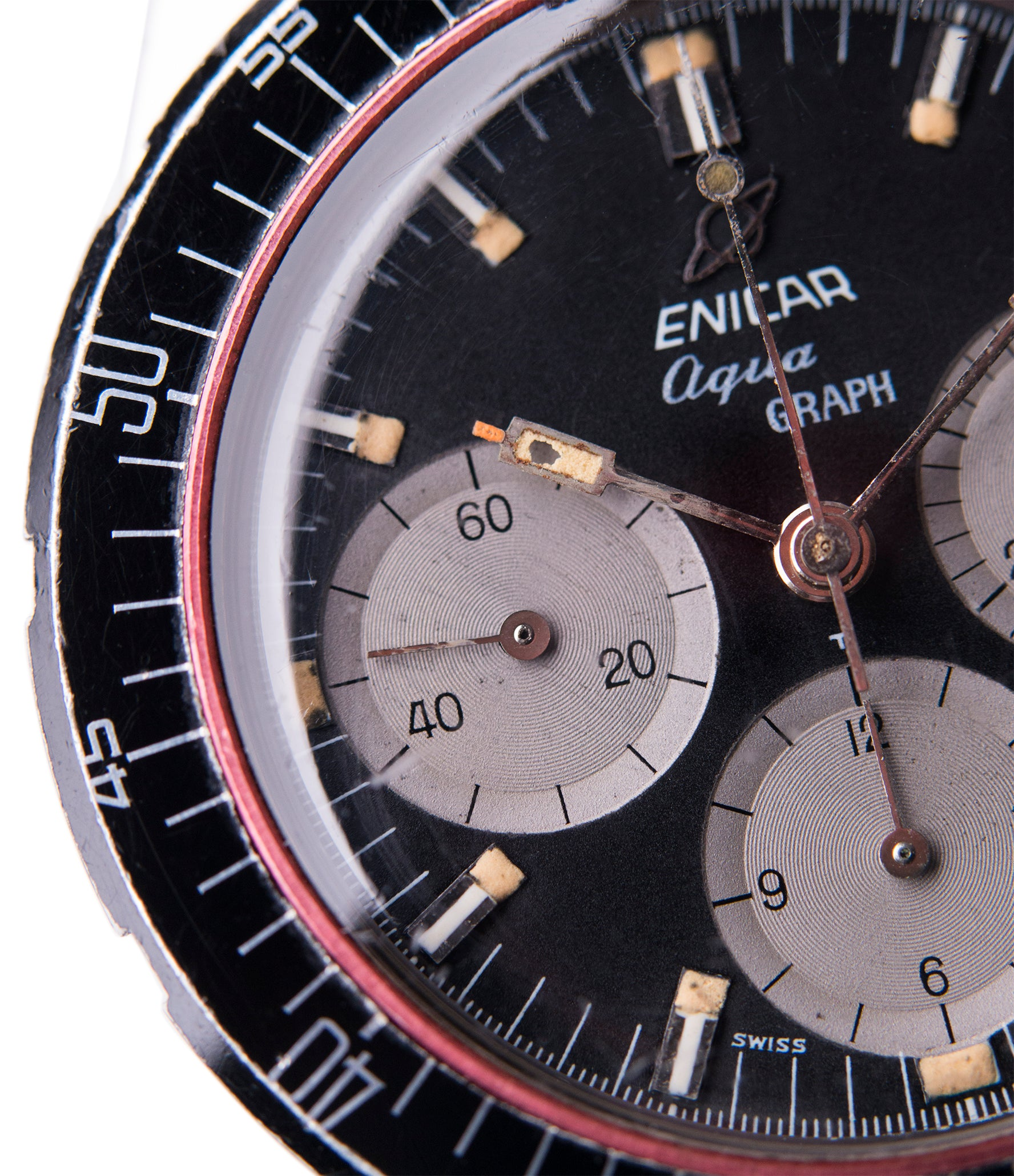 vintage chronograph Enicar Aqua Graph 072-02-02 steel watch for sale online at A Collected Man London UK specialist of rare watches