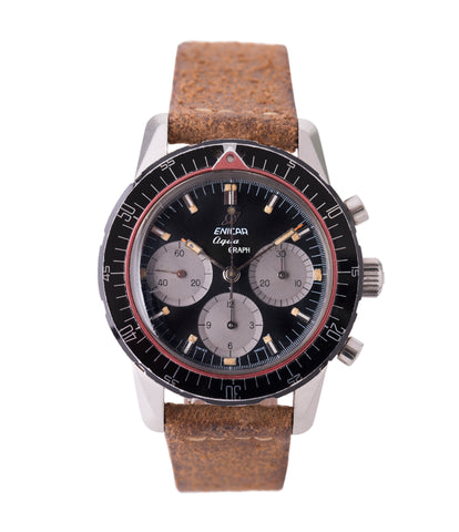 buy vintage Enicar Aqua Graph 072-02-02 steel vintage chronograph watch for sale online at A Collected Man London UK specialist of rare watches