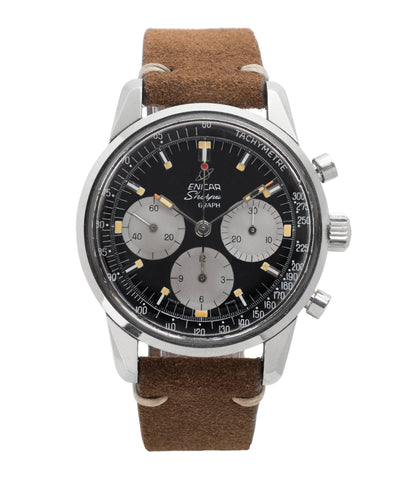 buy vintage Enicar Sherpa Graph Chronograph 300 MKIII Ref. 072-02-01 steel vintage chronograph sports watch for sale online at A Collected Man London seller rare vintage watches online UK
