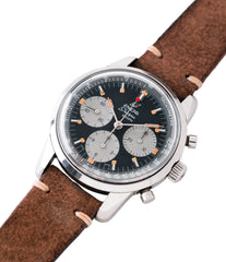steel Enicar Sherpa Graph 300 MKIII Jim Clark vintage chronograph watch at A Collected Man London UK specialist of rare watches