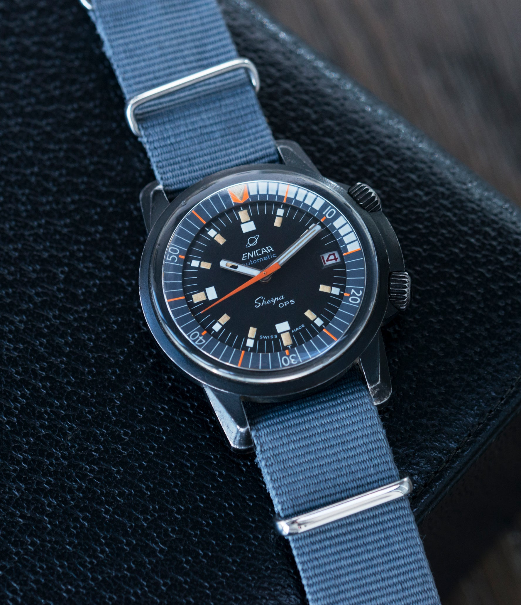 vintage Enicar Sherpa OPS 600 Mark 2 Ref. 144/35/03A diver watch for sale online at A Collected Man London UK specialist of rare vintage watches