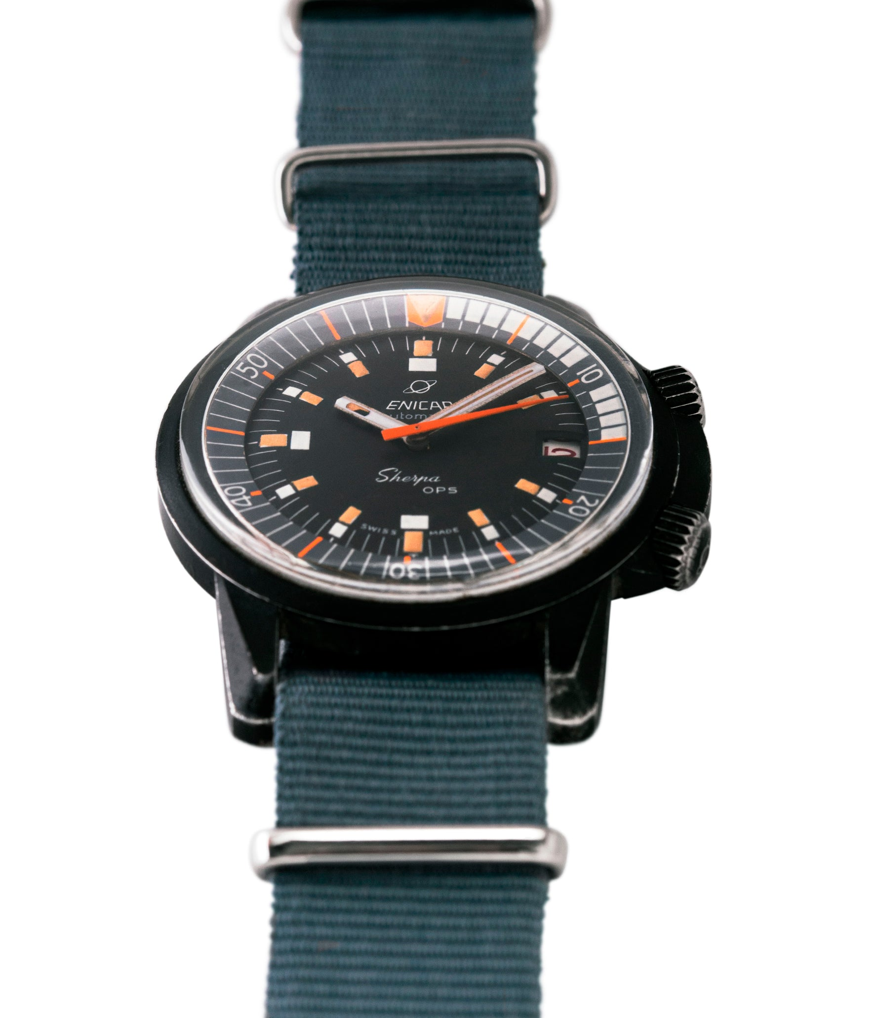 buying vintage Enicar Sherpa OPS 600 Mark 2 Ref. 144/35/03A diver watch for sale online at A Collected Man London UK specialist of rare vintage watches