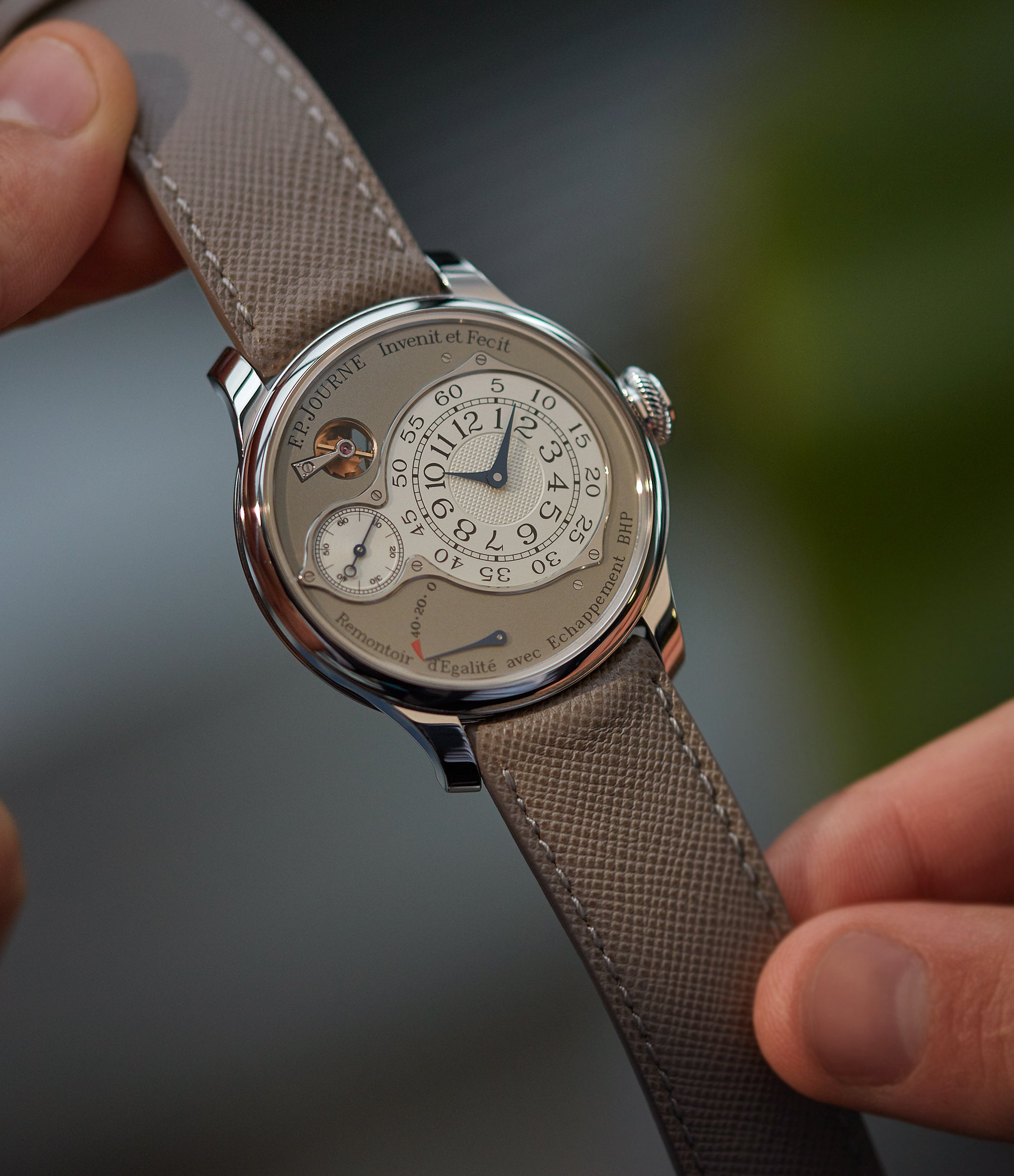 collect F. P. Journe Chronometre Optimum 40mm platinum pre-owned dress watch for sale at A Collected Man London