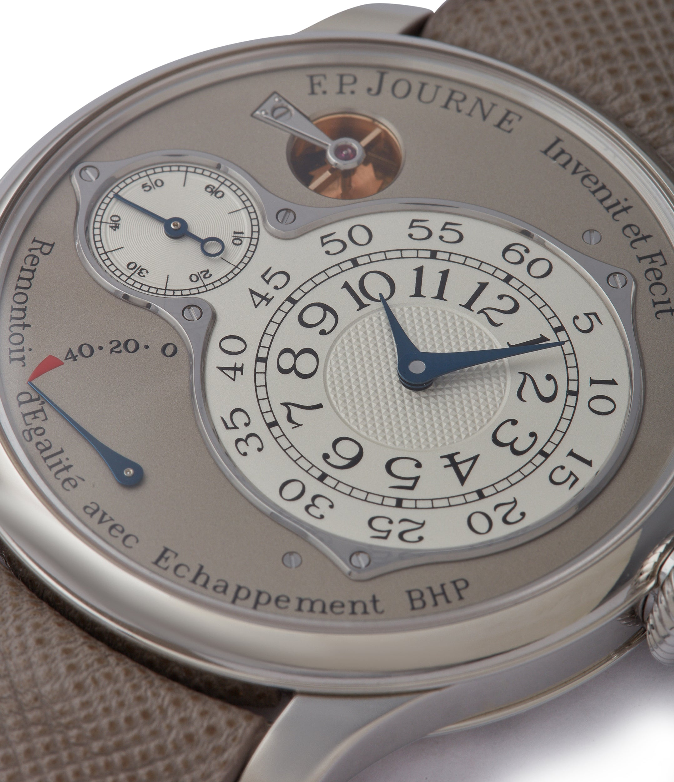Remontoire d'Egalité F. P. Journe Chronometre Optimum 40mm platinum pre-owned dress watch for sale at A Collected Man London