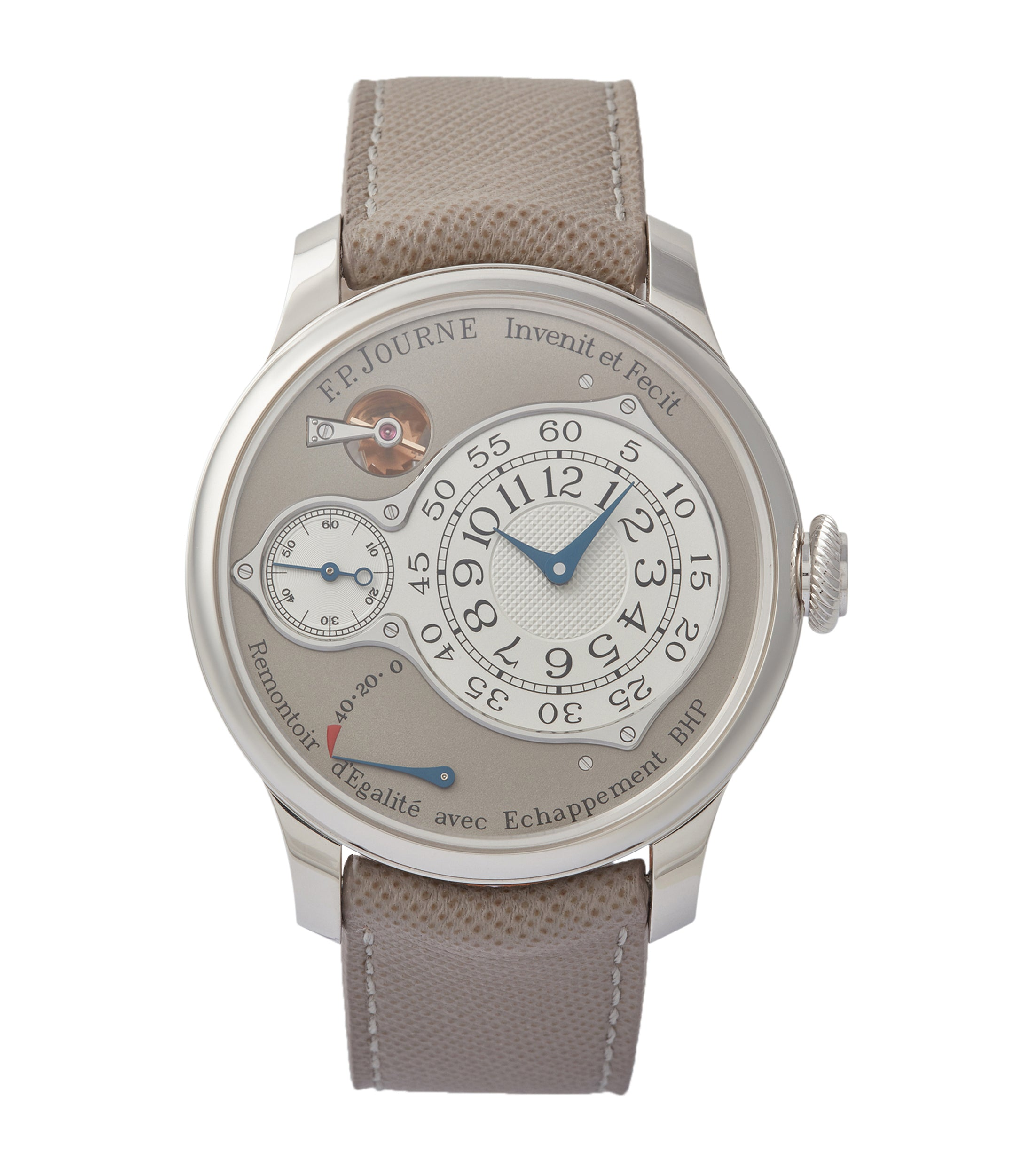 F. P. Journe Chronometre Optimum 40mm platinum pre-owned dress watch for sale at A Collected Man London
