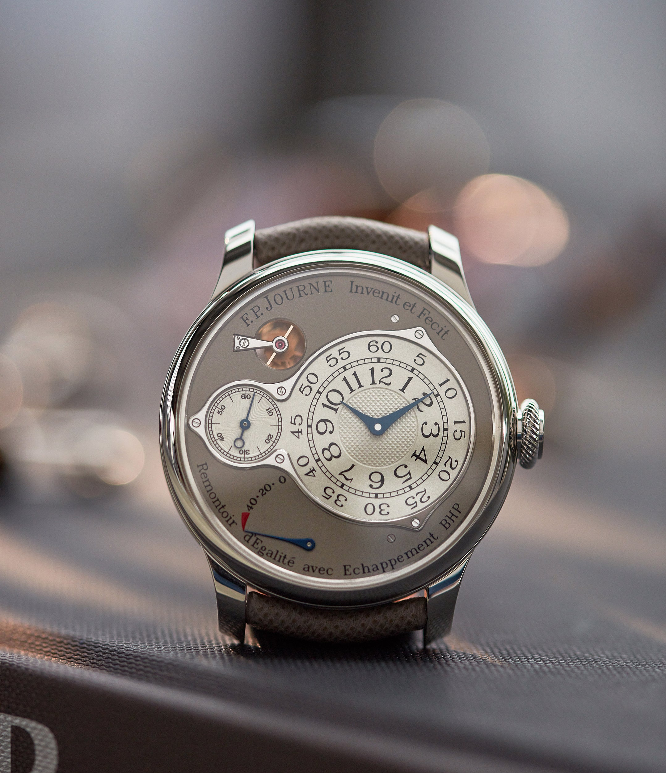 shop pre-owned F. P. Journe Chronometre Optimum 40mm platinum pre-owned dress watch for sale at A Collected Man London