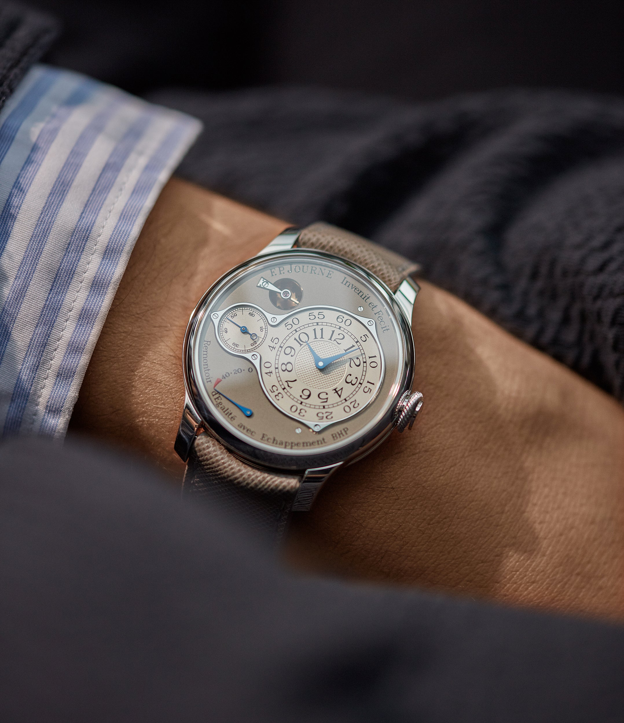 selling F. P. Journe Chronometre Optimum 40mm platinum pre-owned dress watch for sale at A Collected Man London