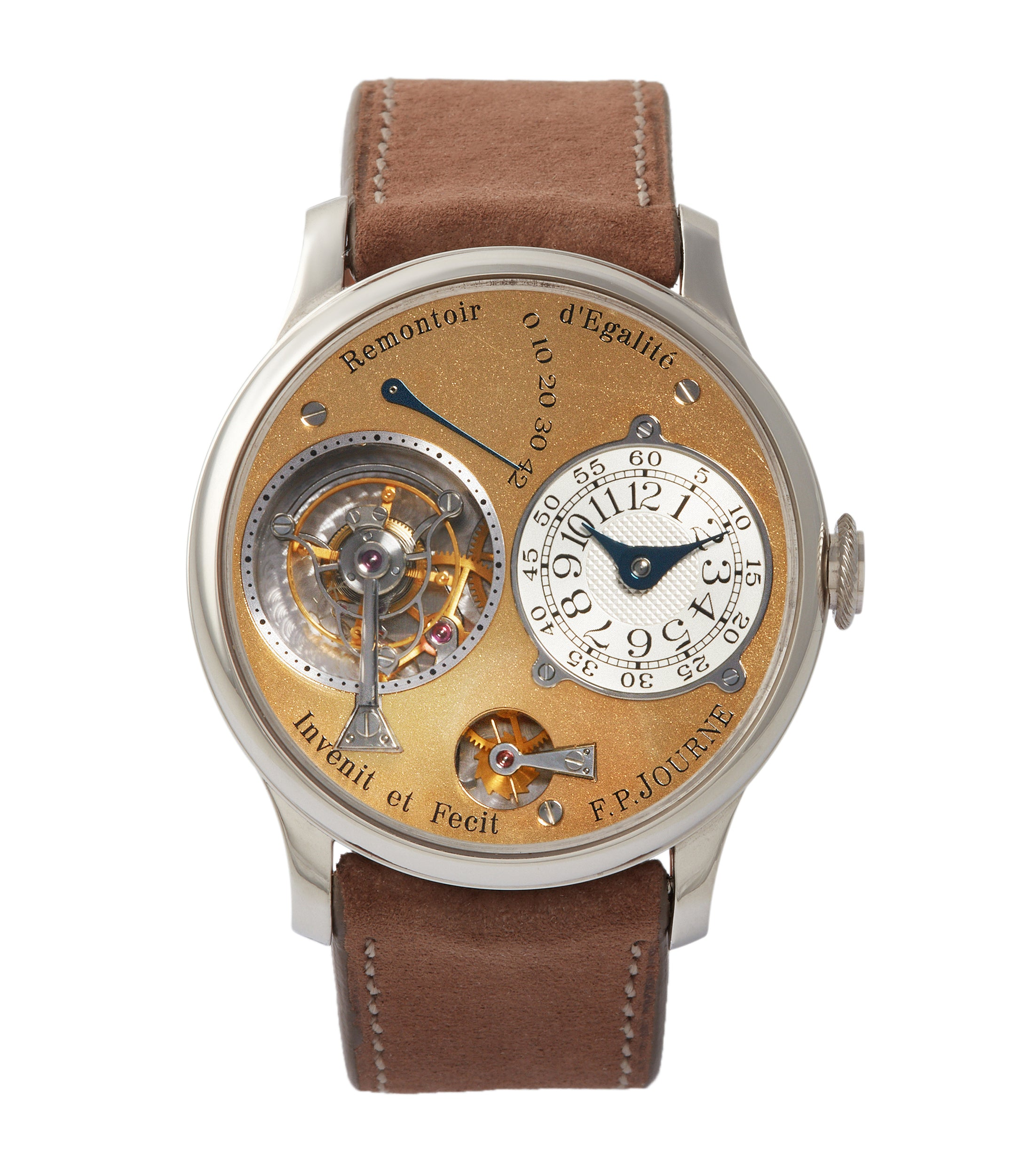 buy F. P. Journe early Tourbillon Souverain 38mm platinum brass movement collectable independent watchmaker for sale online at A Collected Man London specialist of rare watches